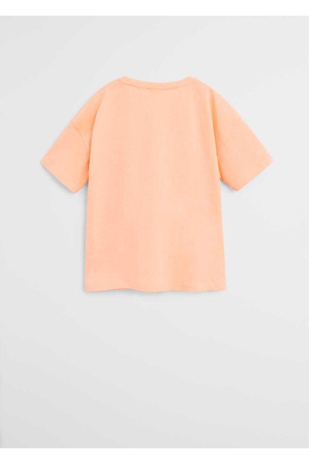 Mango Organik Pamuklu Iki Taraflı Pullu Tişört