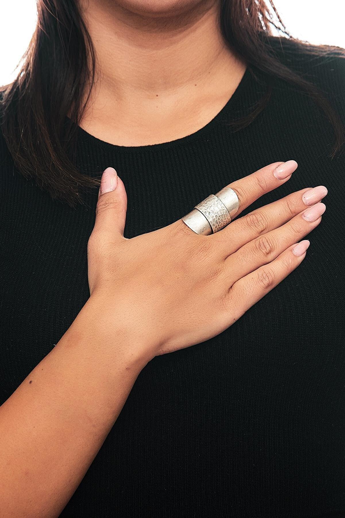 ZeyDor Accessories Zeydor Antik Gümüş Kaplama Tasarım Yüzük