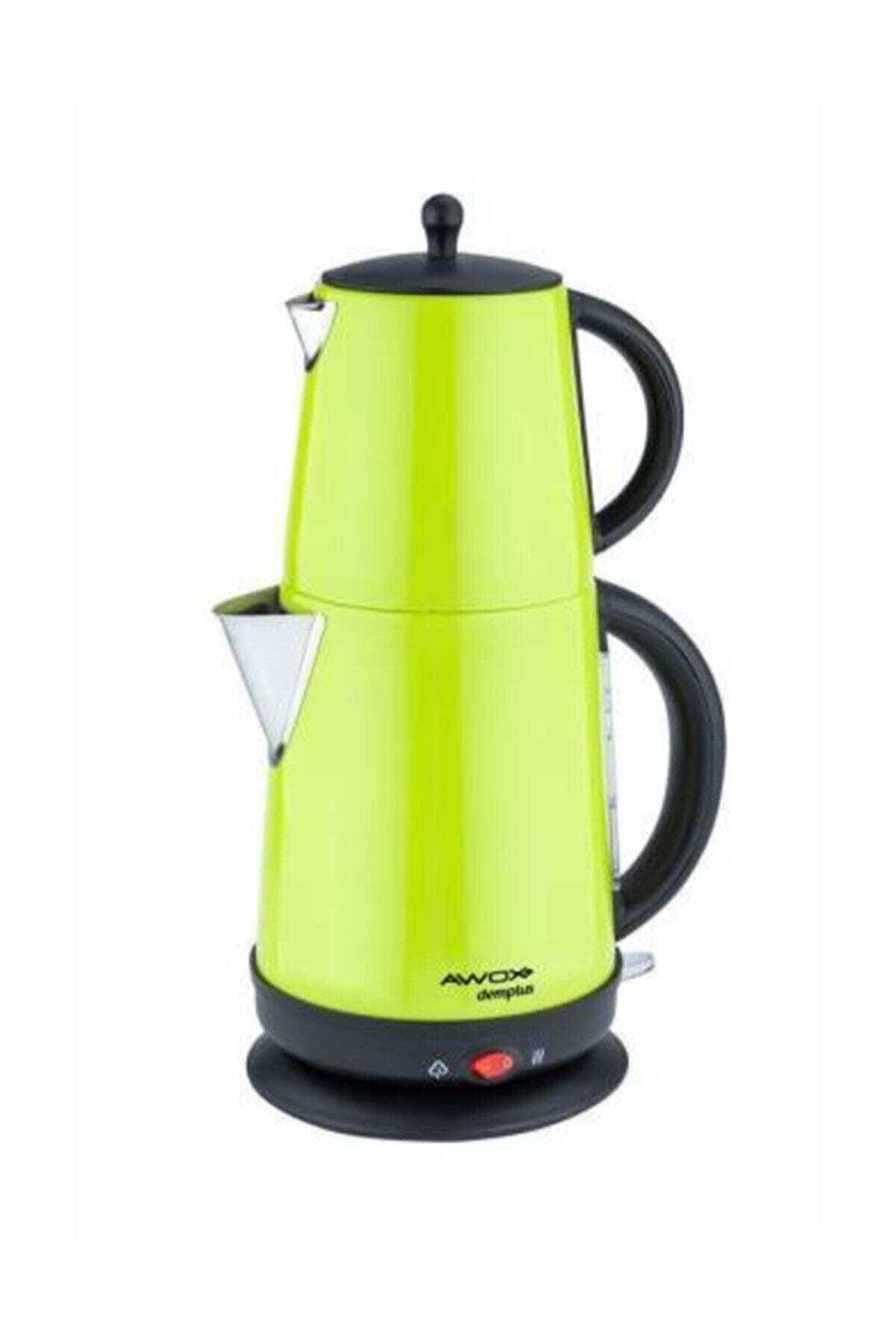 AWOX Demplus Çelik Çaycı Çay Makinesi Açık Yeşil