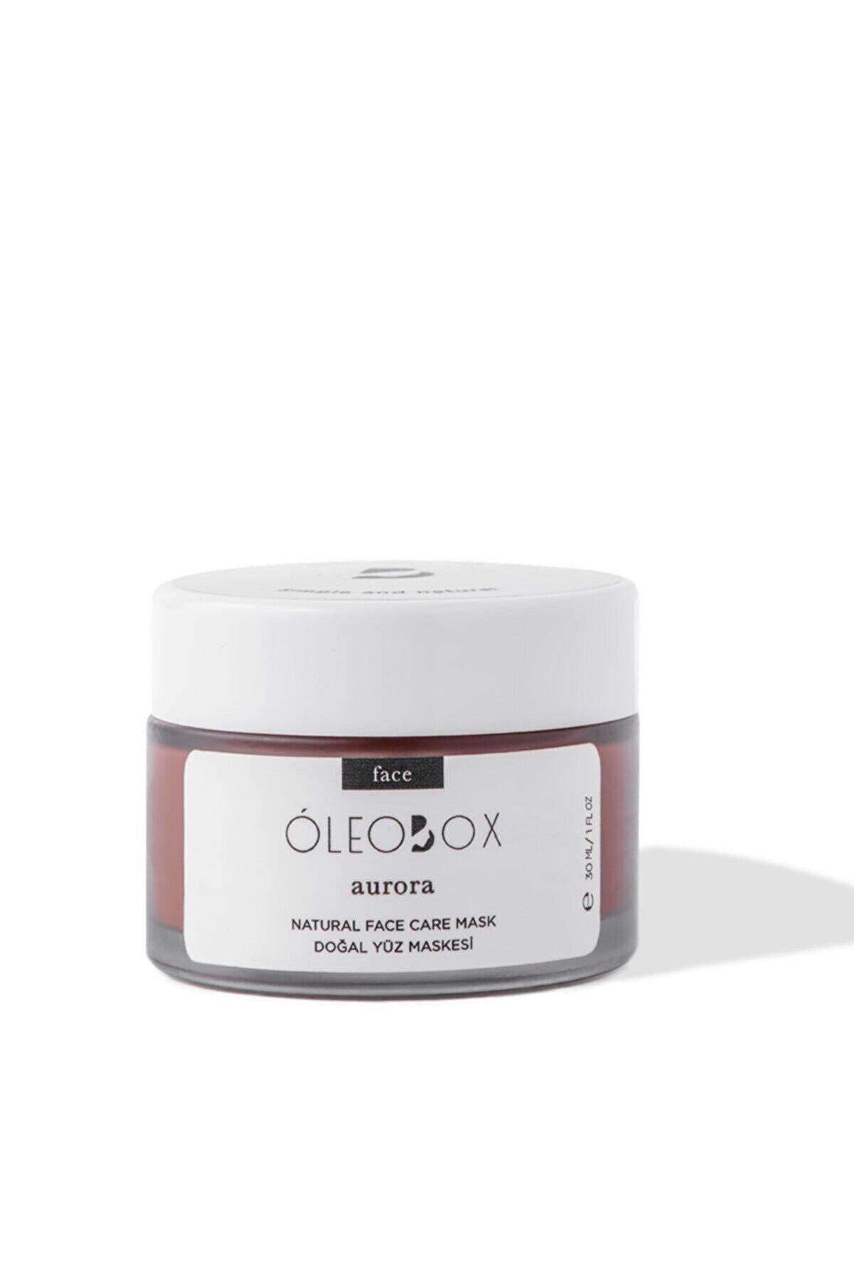 Oleobox Aurora Yüz Bakım Maskesi Aha ve Fransız Kırmızı Kil İçerikli 30 ml