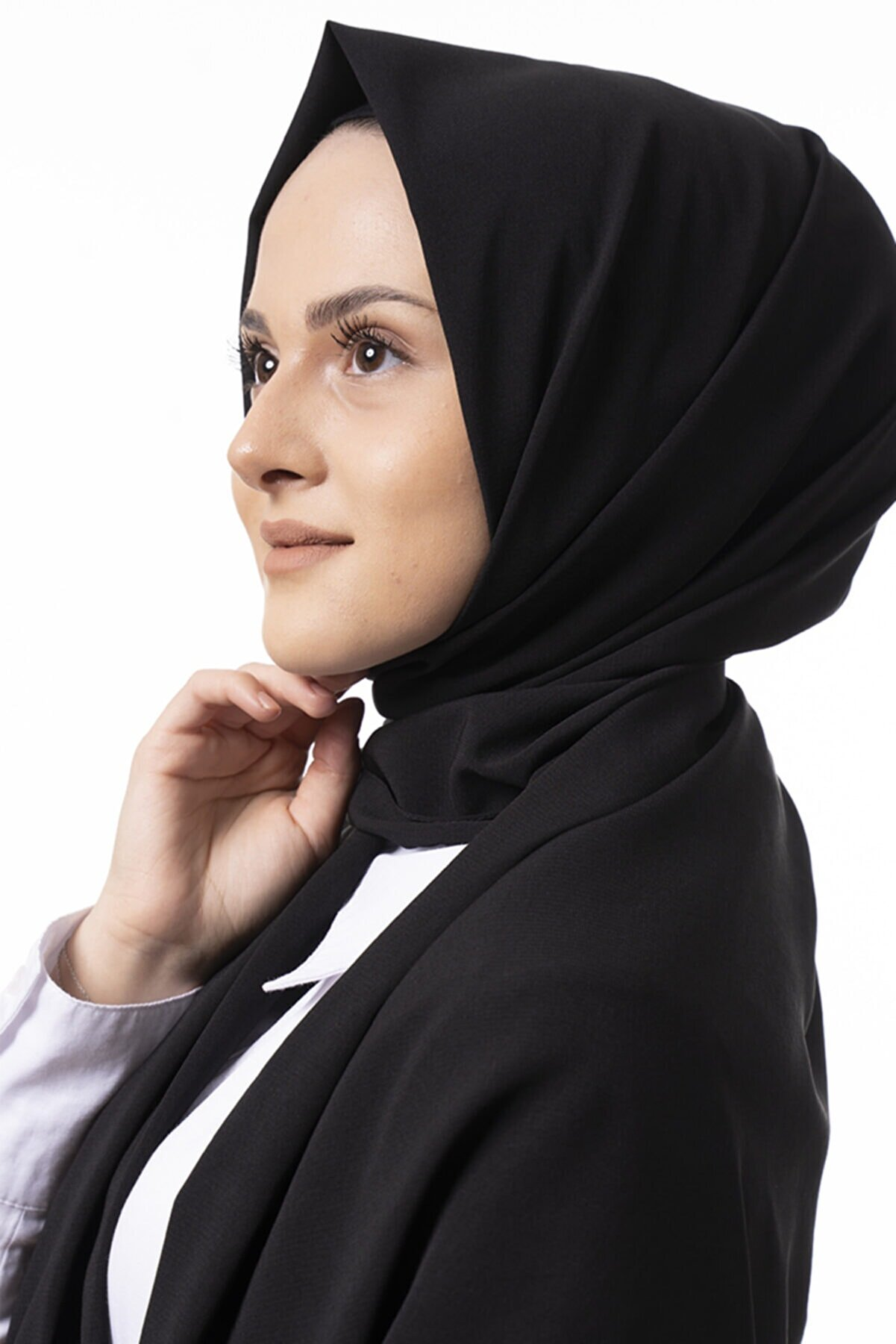 Etholle Kadın Mat Black Medine Ipeği Şal