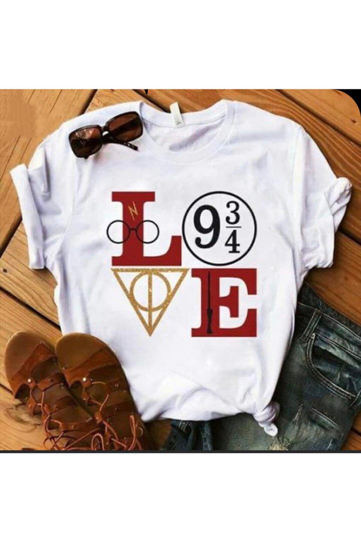 GEZMONİ Love Harry Baskılı T-shirt