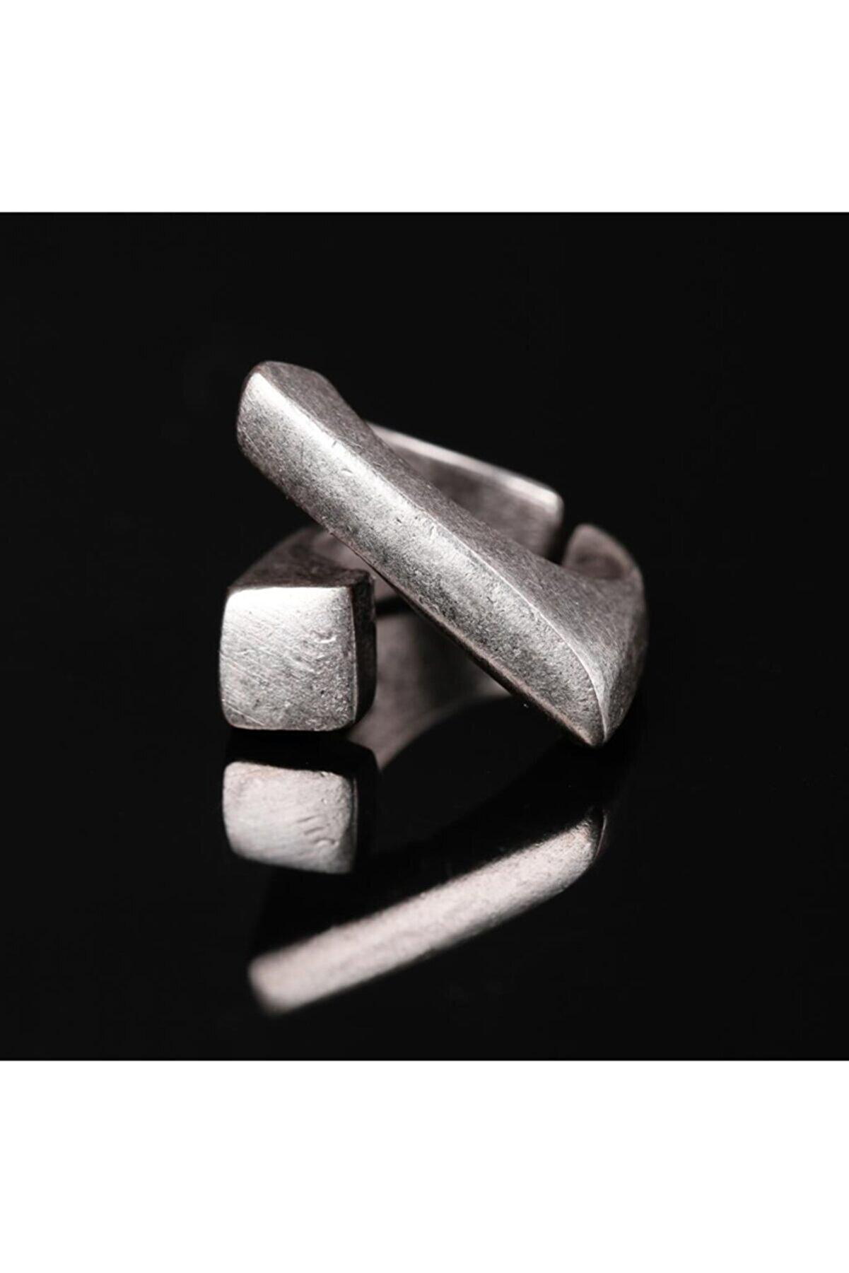 Zuk Collection Antik Gümüş Kaplama Ayarlanabilir Model Yüzük