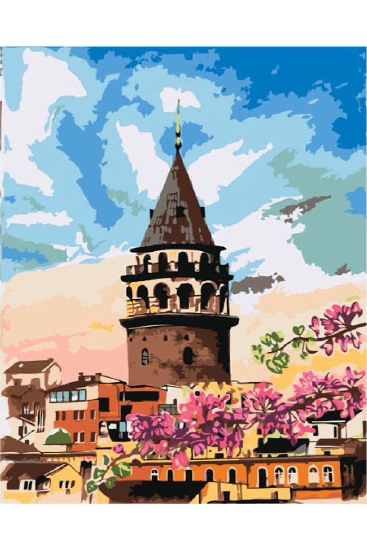 PlusHobby Galata Kulesi Sayılarla Boyama Seti 60x75cm Tuval