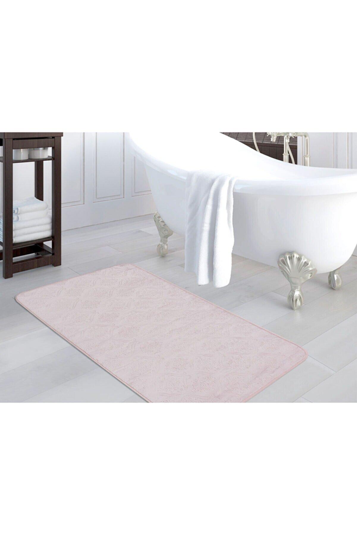 Madame Coco Emboss Banyo Paspası - Mürdüm - 120x180 Cm