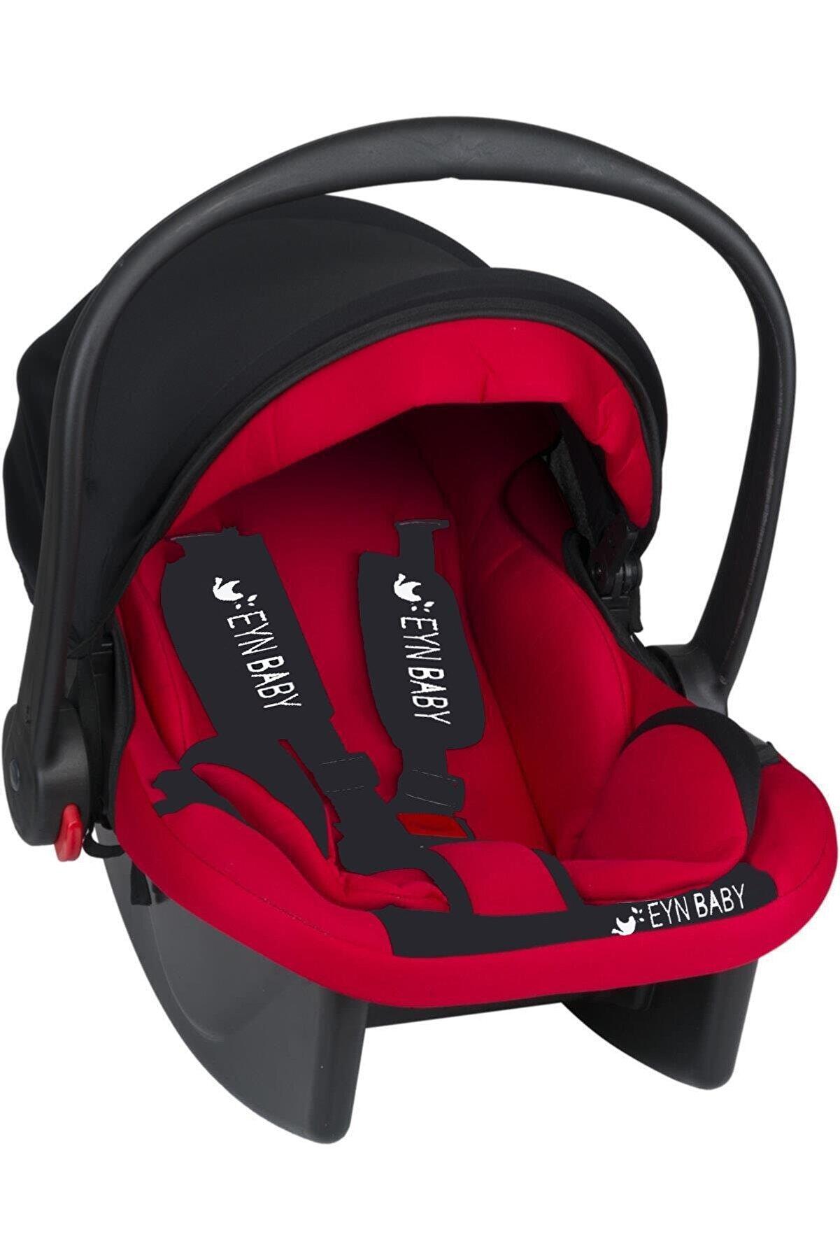 eynbaby Lüx Pedli Bebek Puset Taşıma Bebek Oto Koltuğu Puset, Ana Kucağı Kırmızı