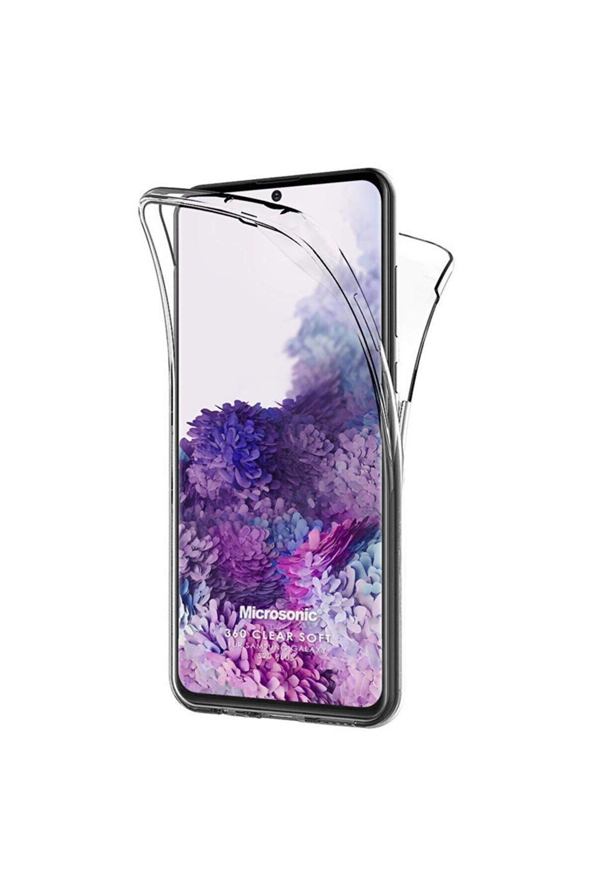 Samsung Microsonic Galaxy S20 Plus Kılıf 6 Tarafı Tam Full Koruma 360 Clear Soft Şeffaf
