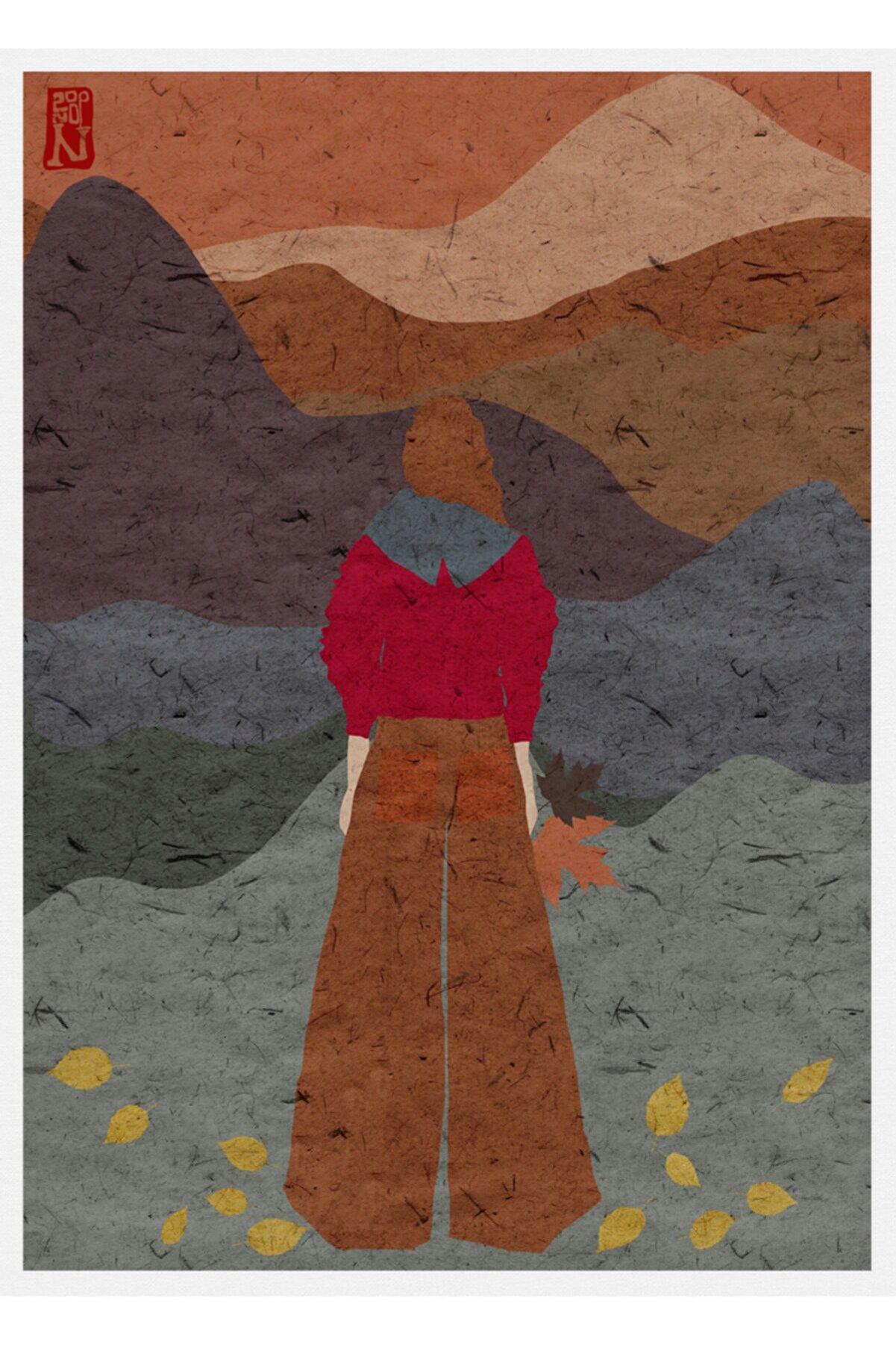 Nilol Print Walk Into Autumn, 29x42, Dijital Illüstrasyon, Fine Art Baskı