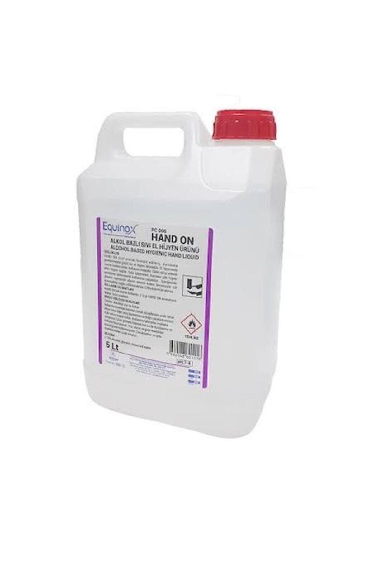 Equinox Hand On El Dezenfektanı Antiseptik Hijyen Ürünü Sıvı 5 Lt