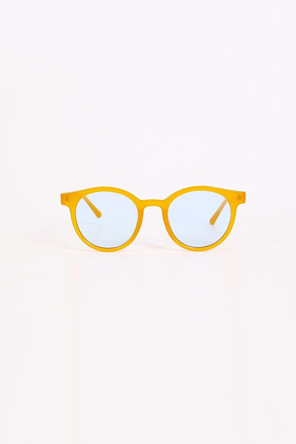 Kapin Şeffaf Mavi Cam Oval Güneş Gözlüğü