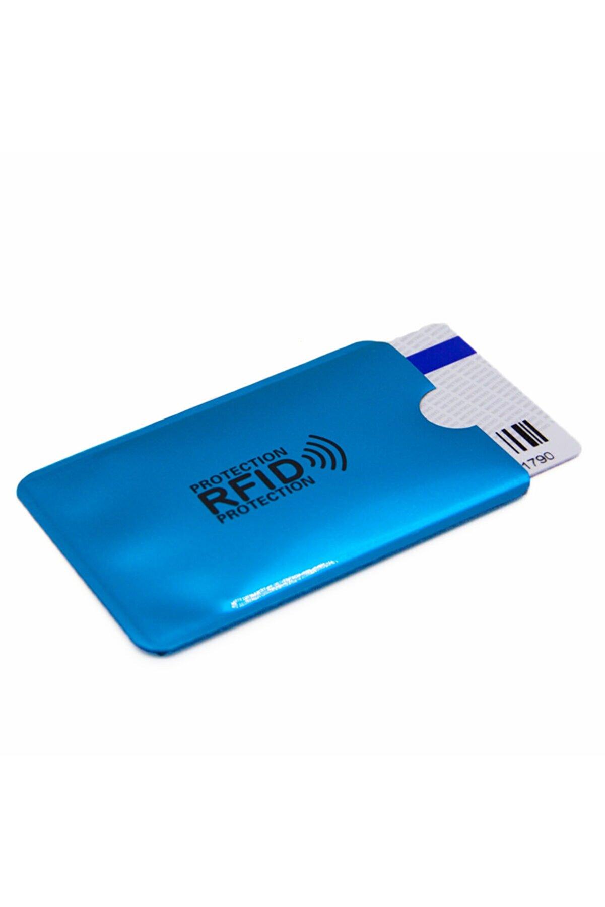 Zeylen Online Temassız Kart Kopyalama Önleyici Kılıf - Mavi