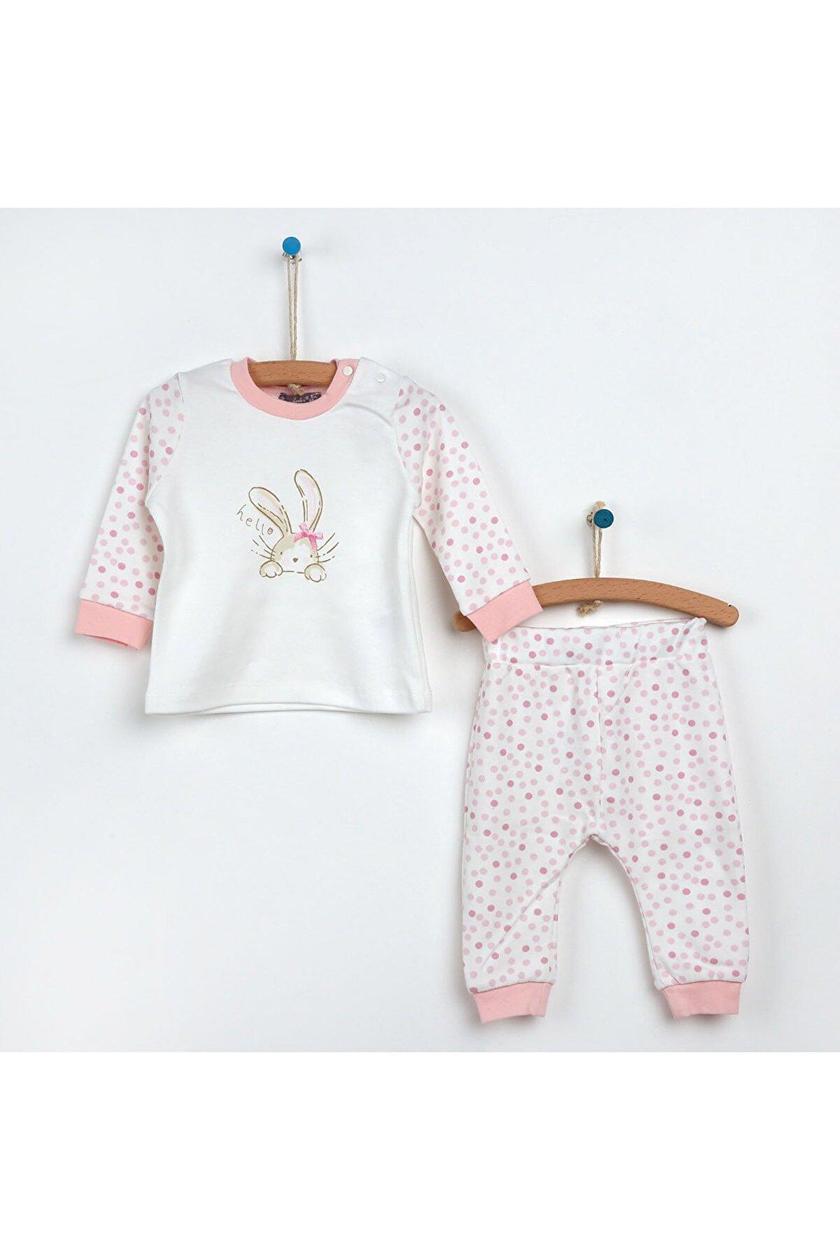 Bambaki Puanlı Pijama Takımı