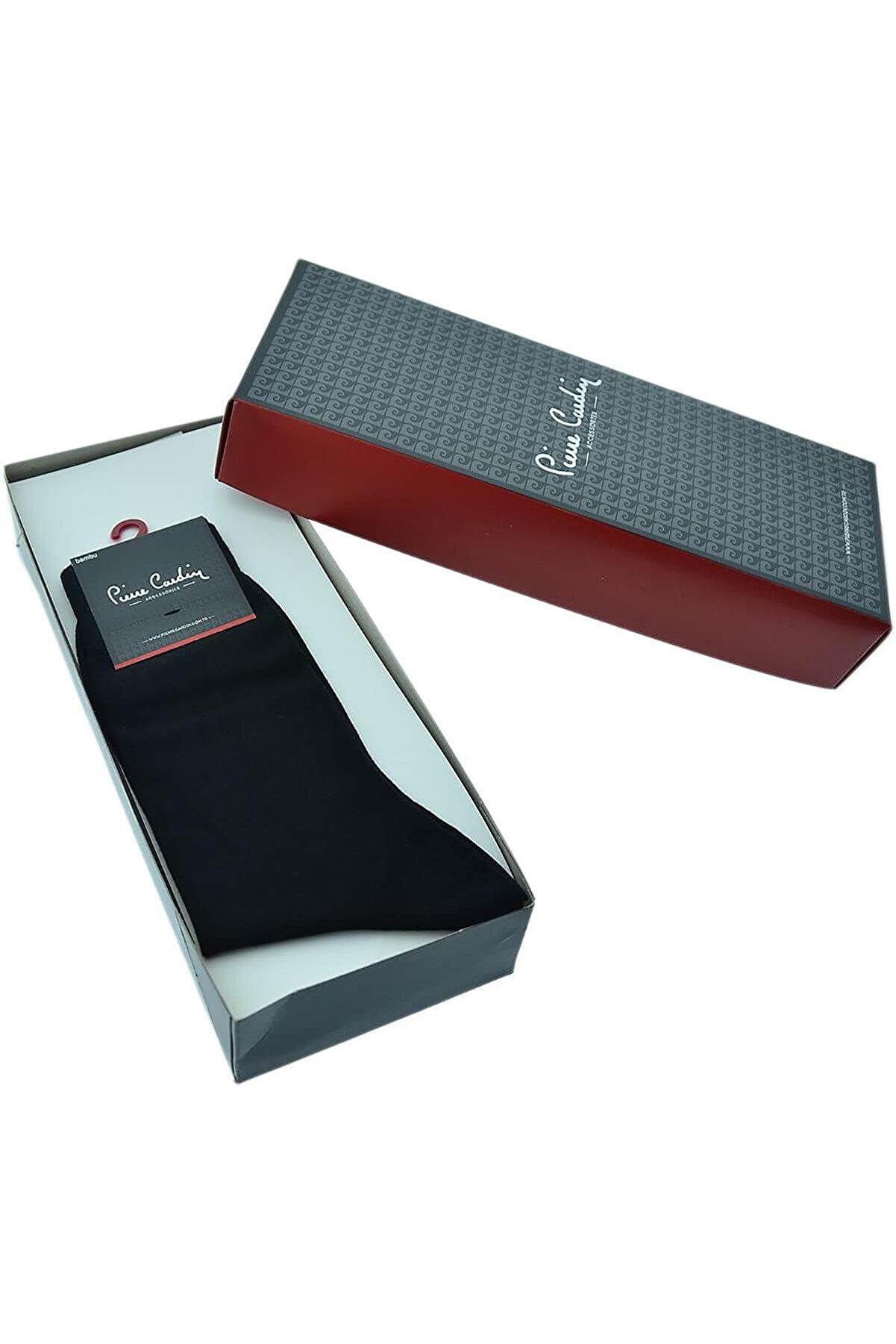 Pierre Cardin Erkek Siyah Bambu Çorap 6lı Set 800