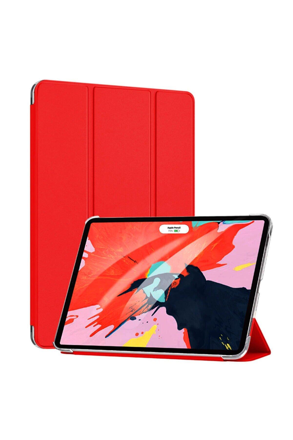 Apple Microsonic Ipad Pro 11'' 2020 2. Nesil Kılıf (a2228-a2068-a2230) Smart Case Ve Arka Kapak Kırmızı