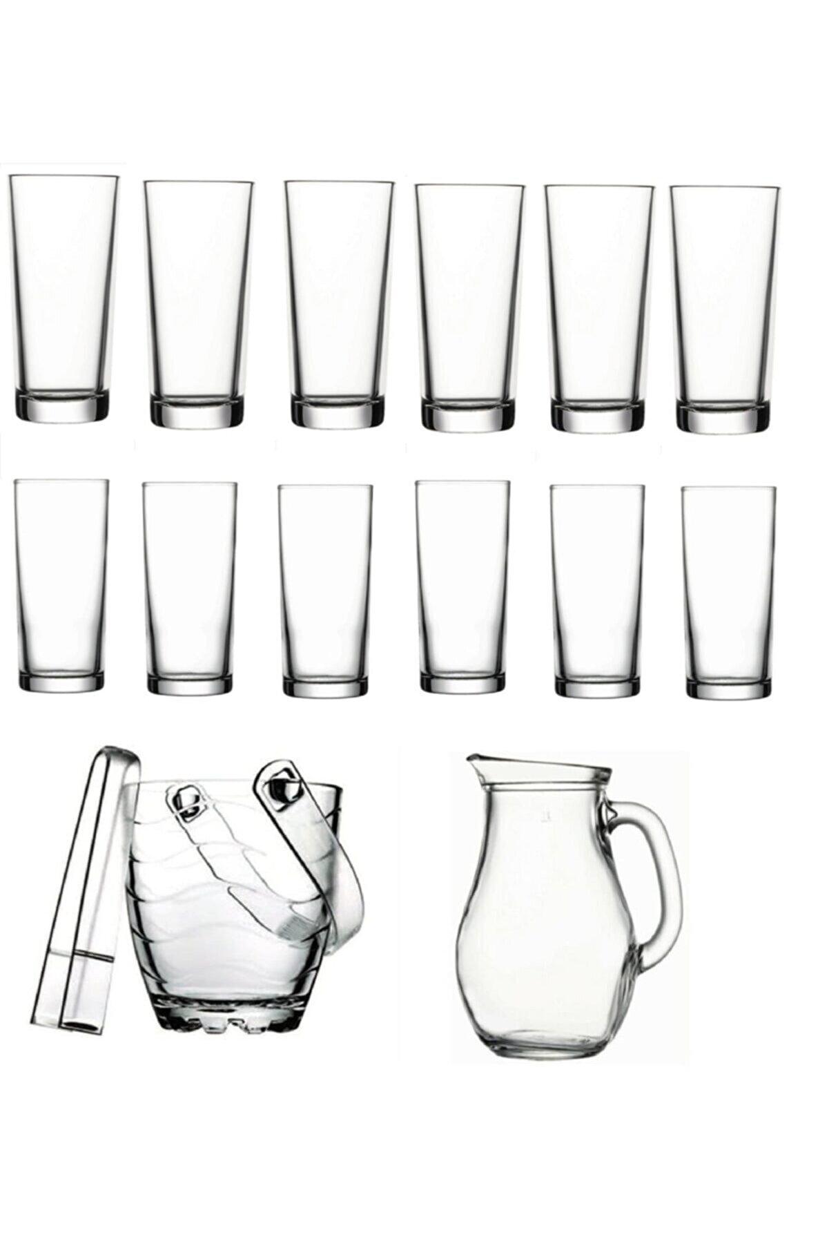 Paşabahçe Meşrubat Bardağı Ve Buz Kovası Seti 15 Parça