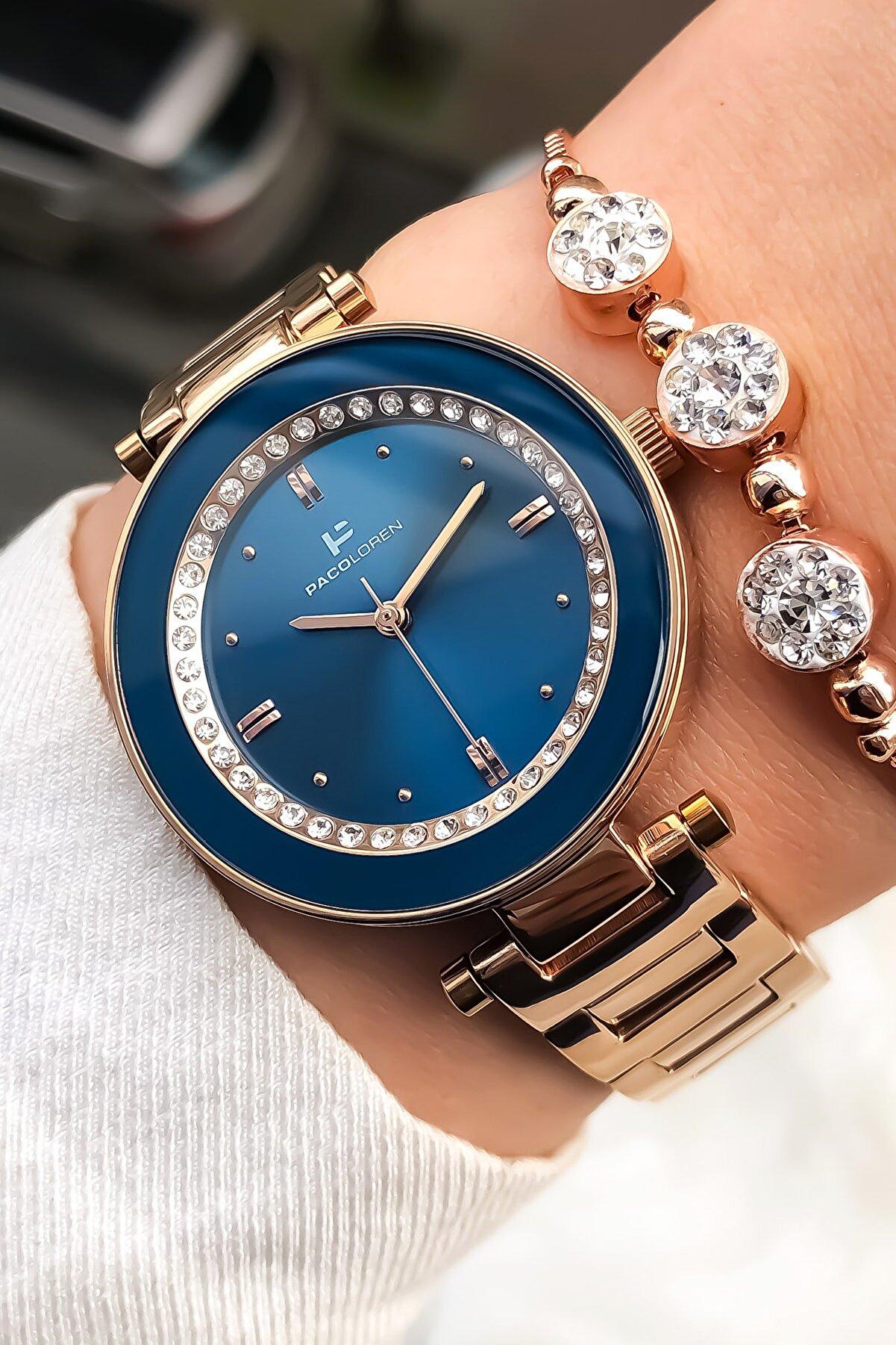 Paco Loren Kadın Mavi Kol Saati ve Bileklik