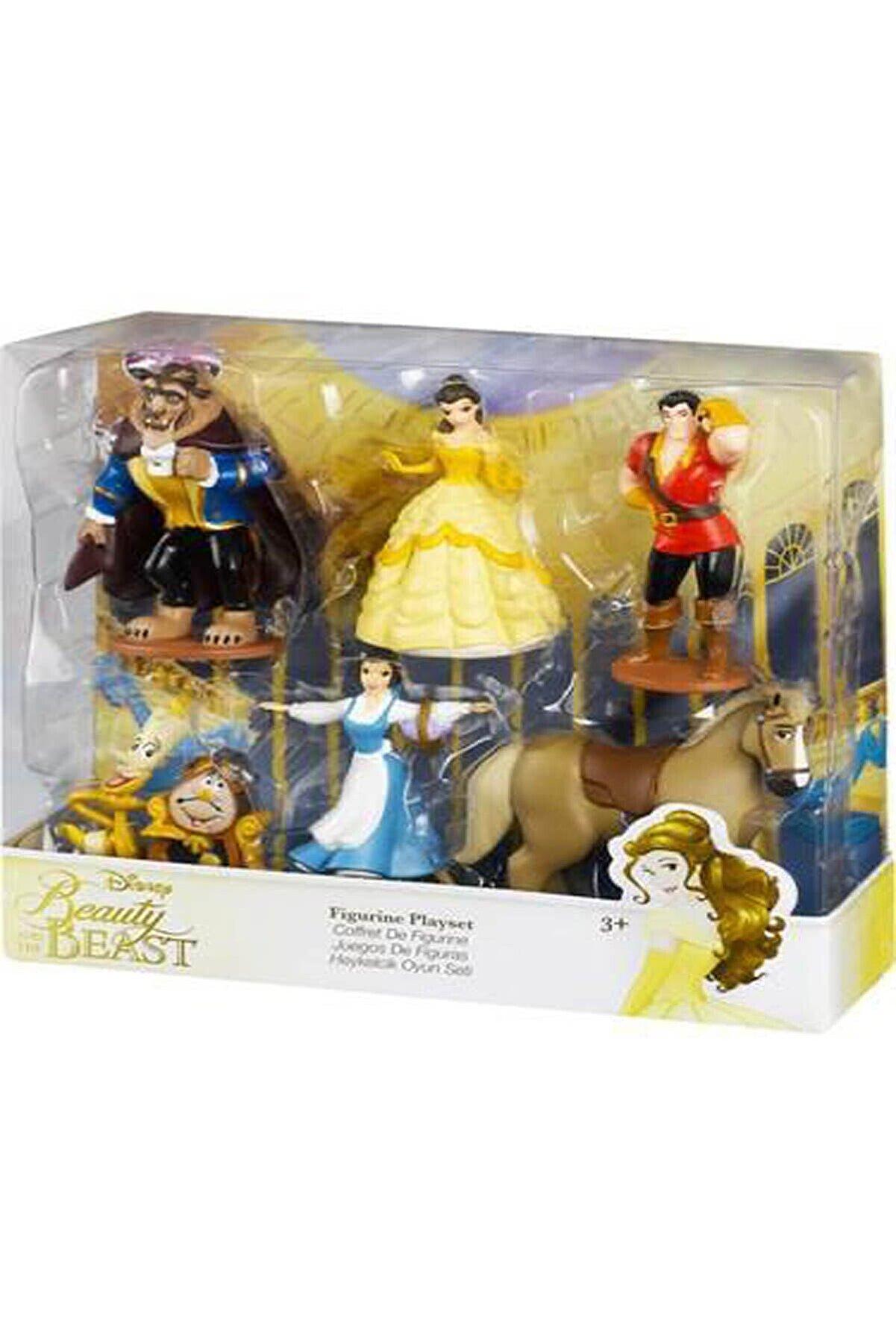 DİSNEY Prenses Belle Ve Güzel Çirkin Heykelcik Oyuncak Seti