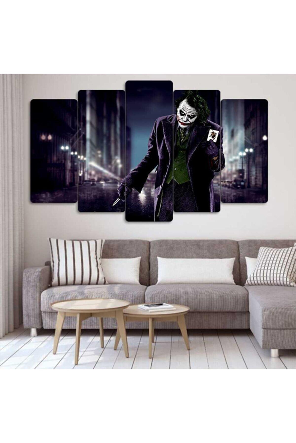 Evonya Joker - 5 Parçalı Dekoratif Tablo