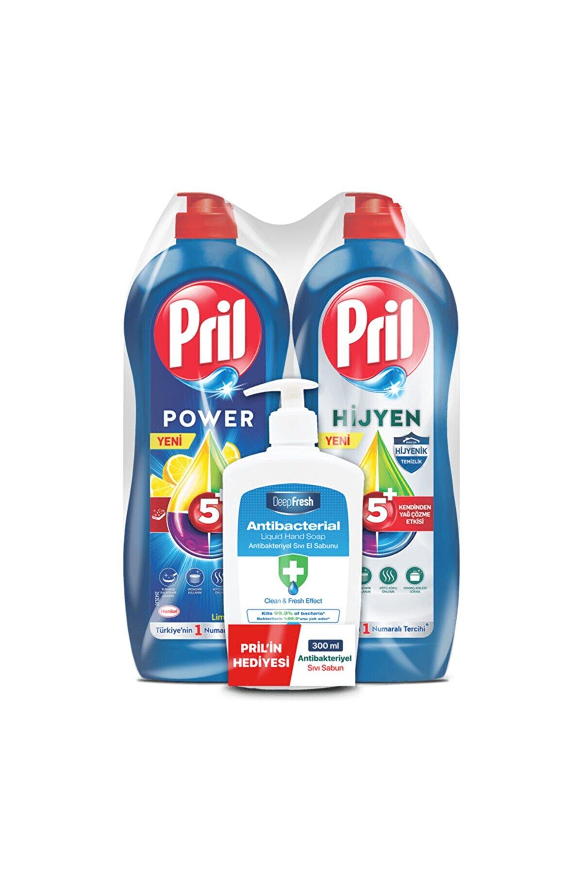 Pril Limon 675 Gr + Hijyen 653 Ml Antibacterial Sıvı Sabun Hediye