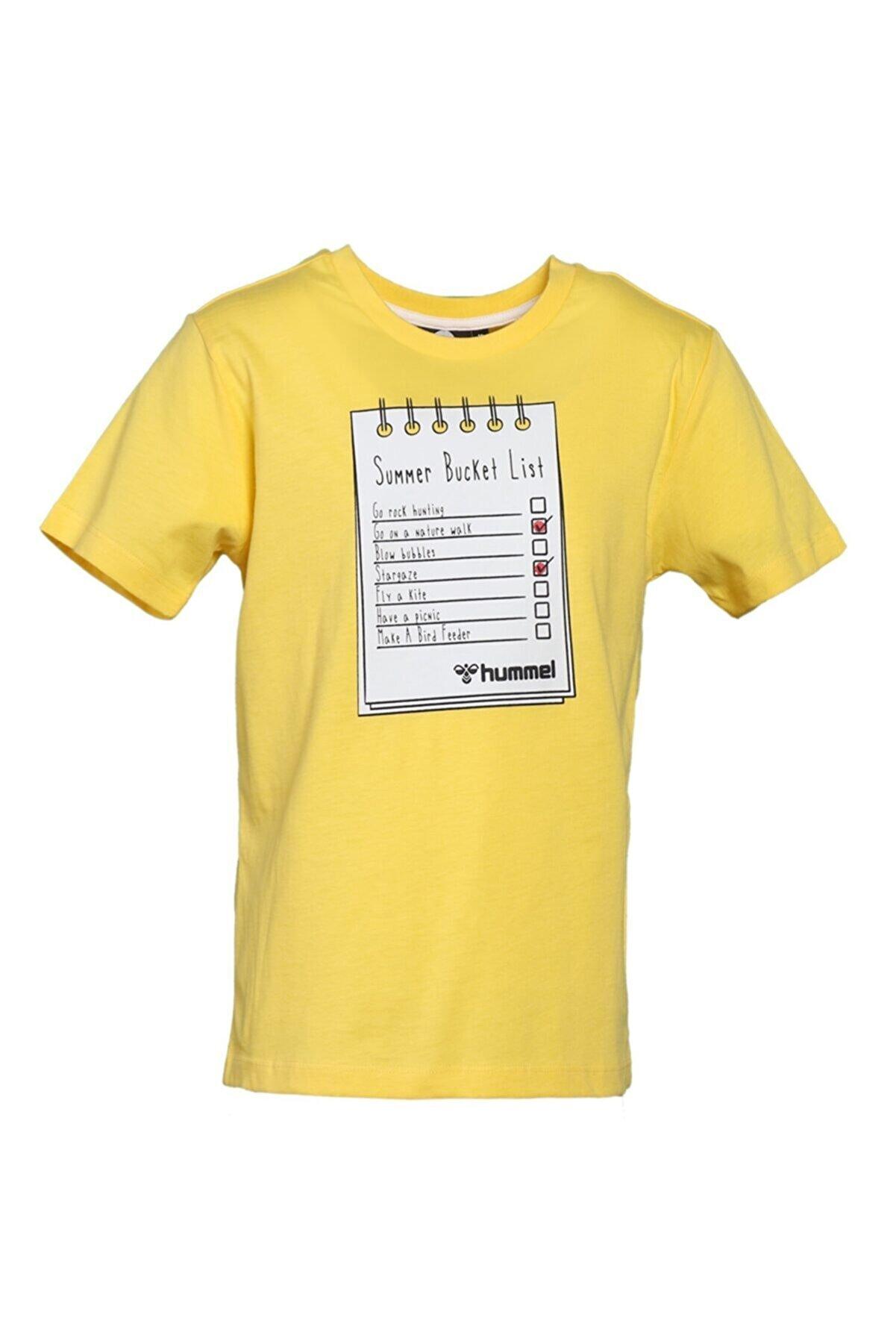 HUMMEL HMLBUCKET T-SHIRT K SARI Erkek Çocuk T-Shirt 101086241
