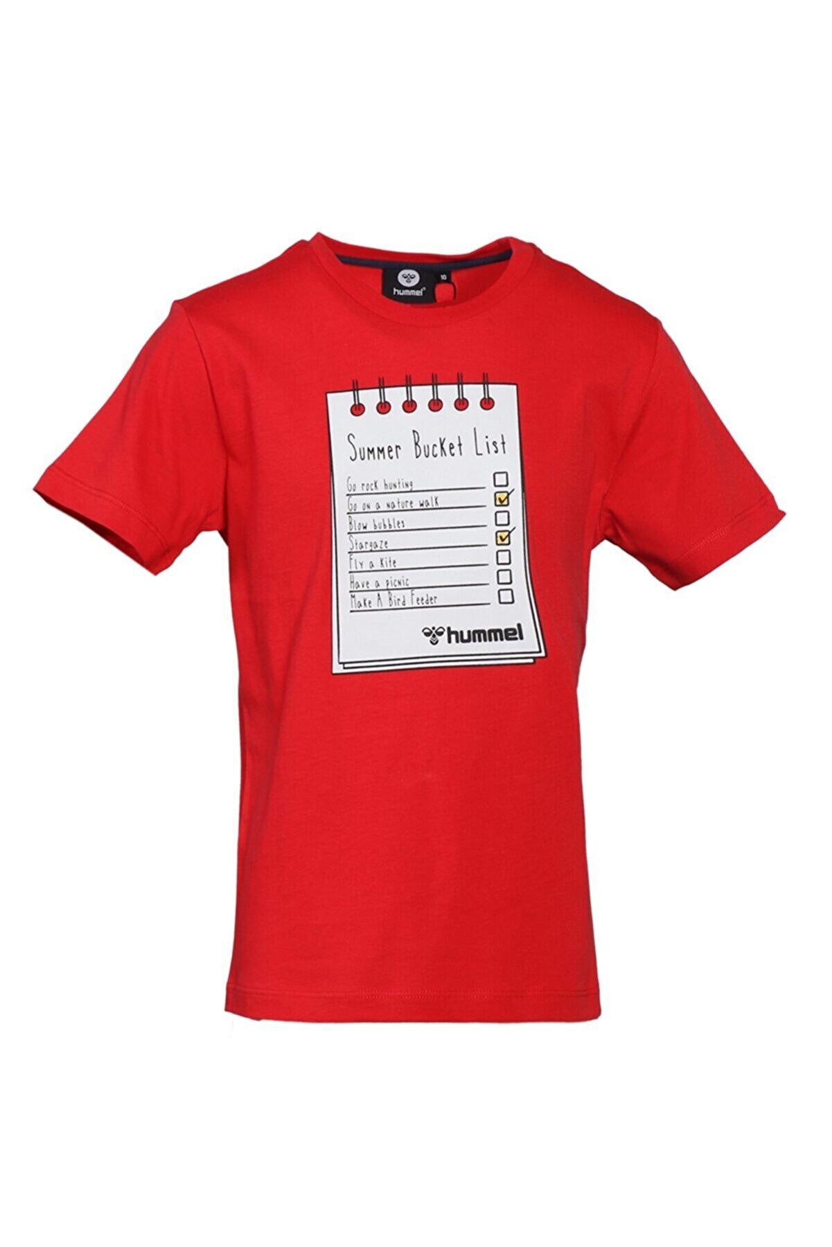HUMMEL HMLBUCKET T-SHIRT Kırmızı Erkek Çocuk T-Shirt 101086293
