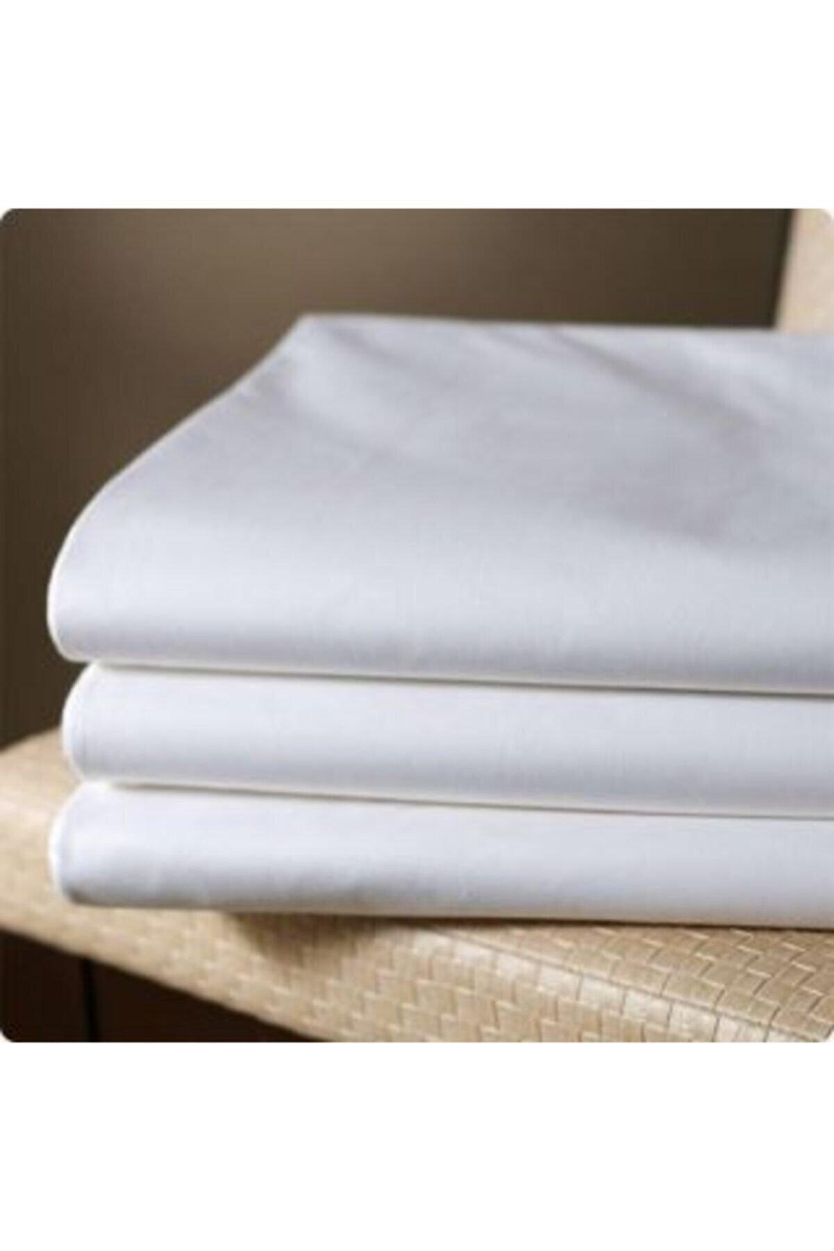 üntaş Düz Beyaz 10 Adet Pamuklu 50x70 Fermuarlı Beyaz Yastık Kılıfı