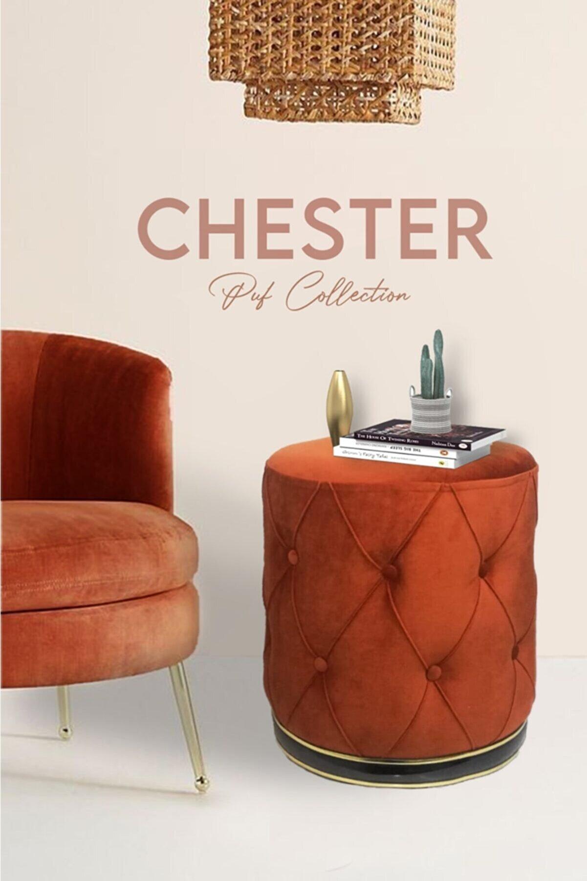Zem Chester Orange Gold Puf