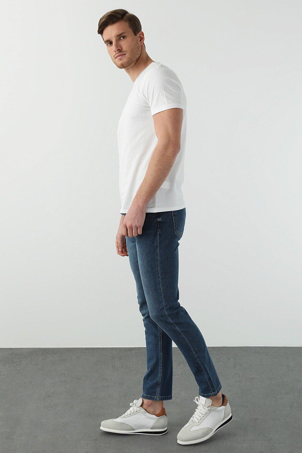 Network Erkek Slim Fit Beyaz T-shirt 1077937