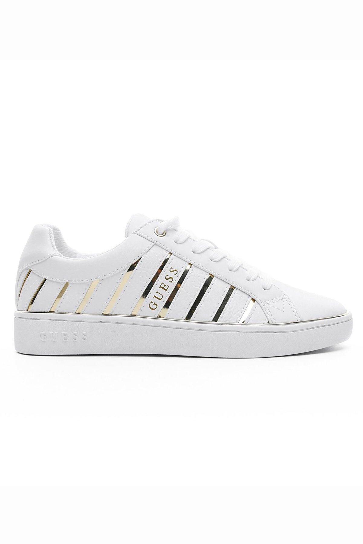 Guess Bolier Beyaz-dore Kadın Sneaker