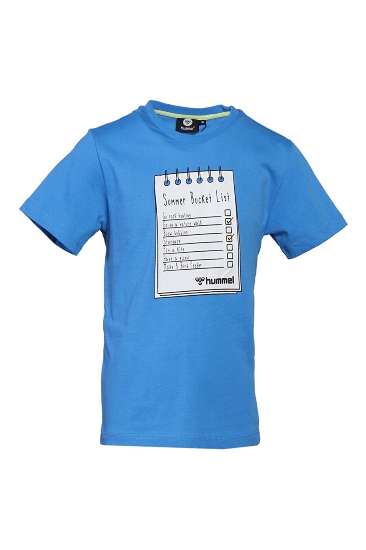 HUMMEL HMLBUCKET T-SHIRT Mavi Erkek Çocuk T-Shirt 101086295