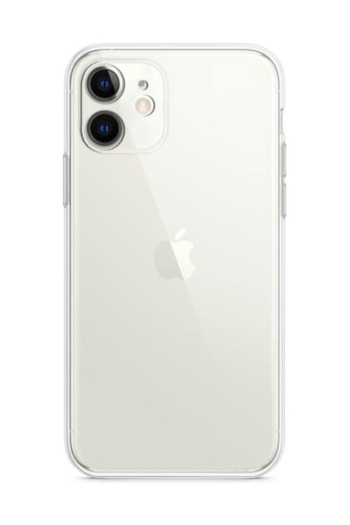 VizonCase Iphone 11 - Tıpalı Kamera Korumalı Silikon Kapak Şeffaf