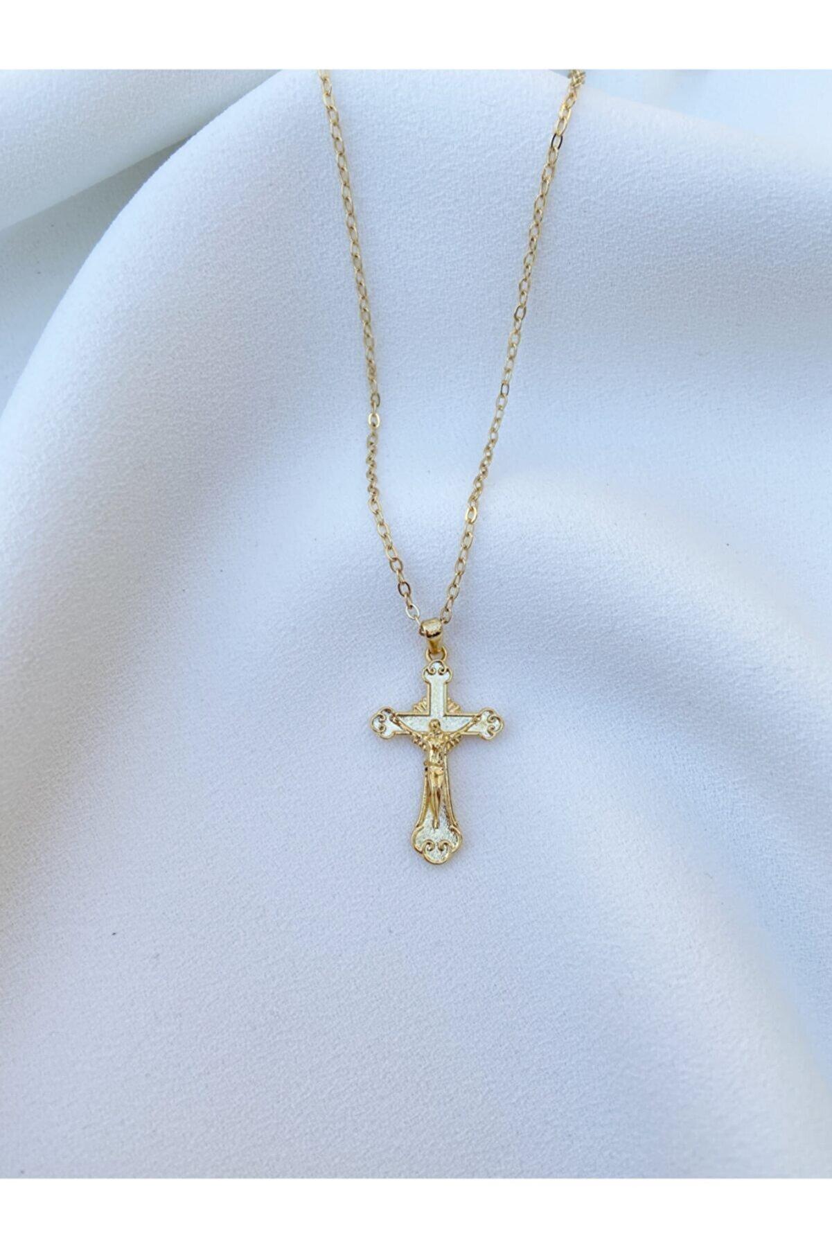 ms merijewelry Kadın Haç Kolye