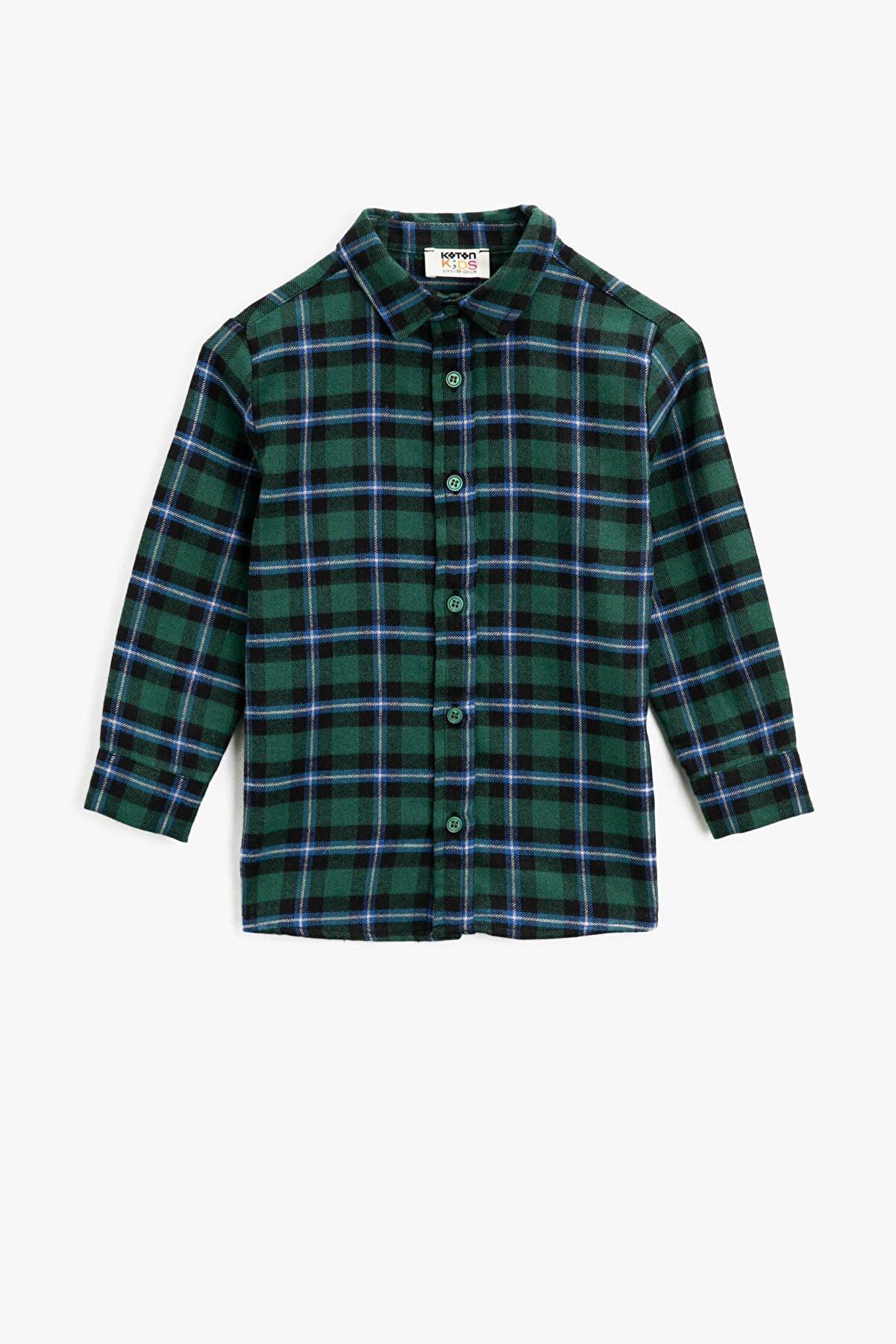 Koton Yeşil Ekoseli Erkek Çocuk Gömlek