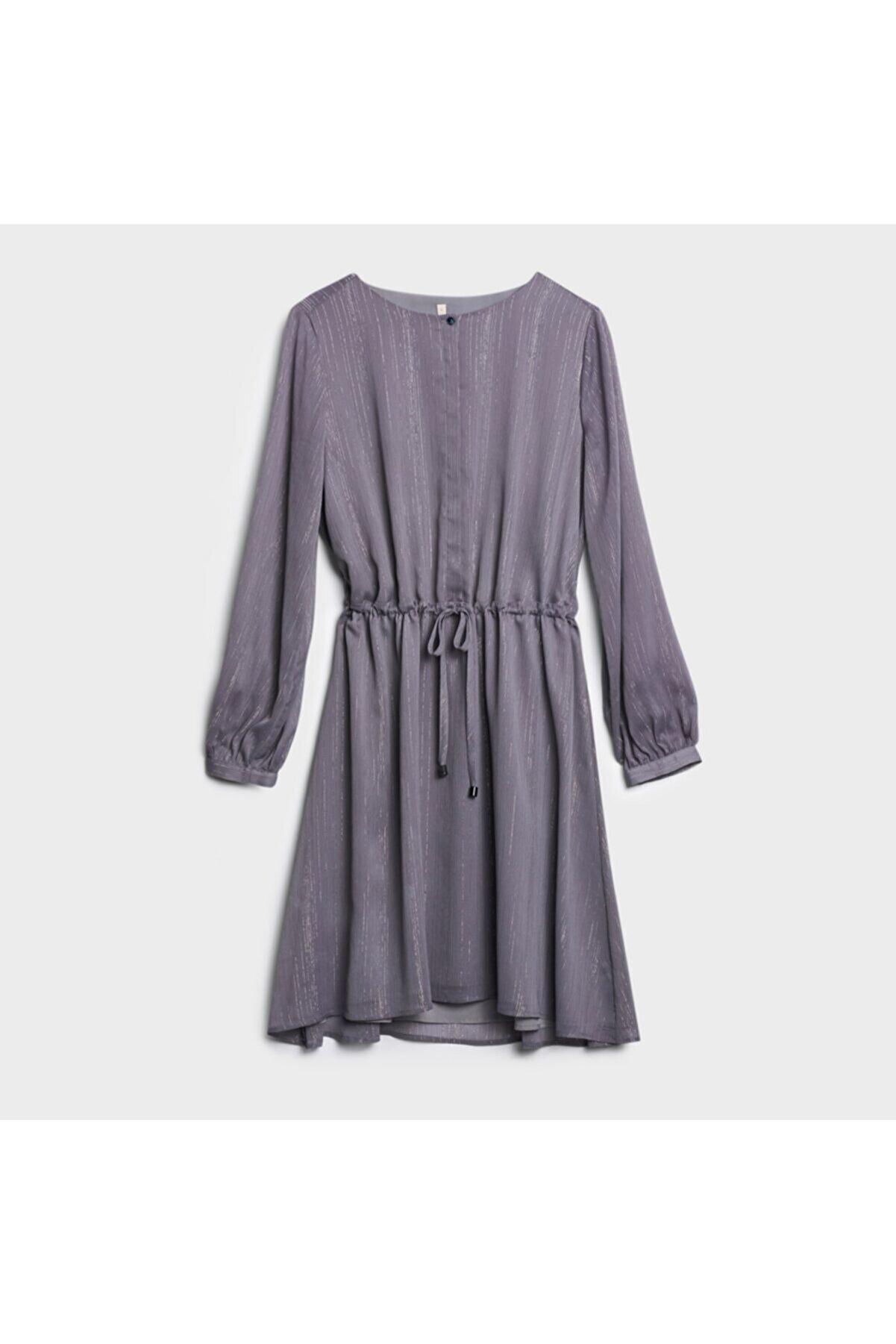 Yargıcı Kadın Vizon Yakasız Elbise