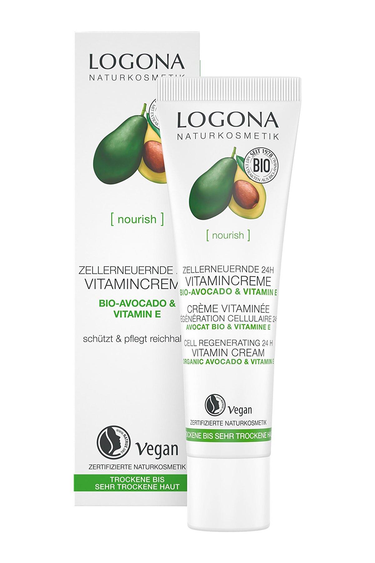 Logona 24 Saat Etkili Hücre Yenileyici Vitamin Kremi - Organik Avokado Ve E Vitamini 30ml