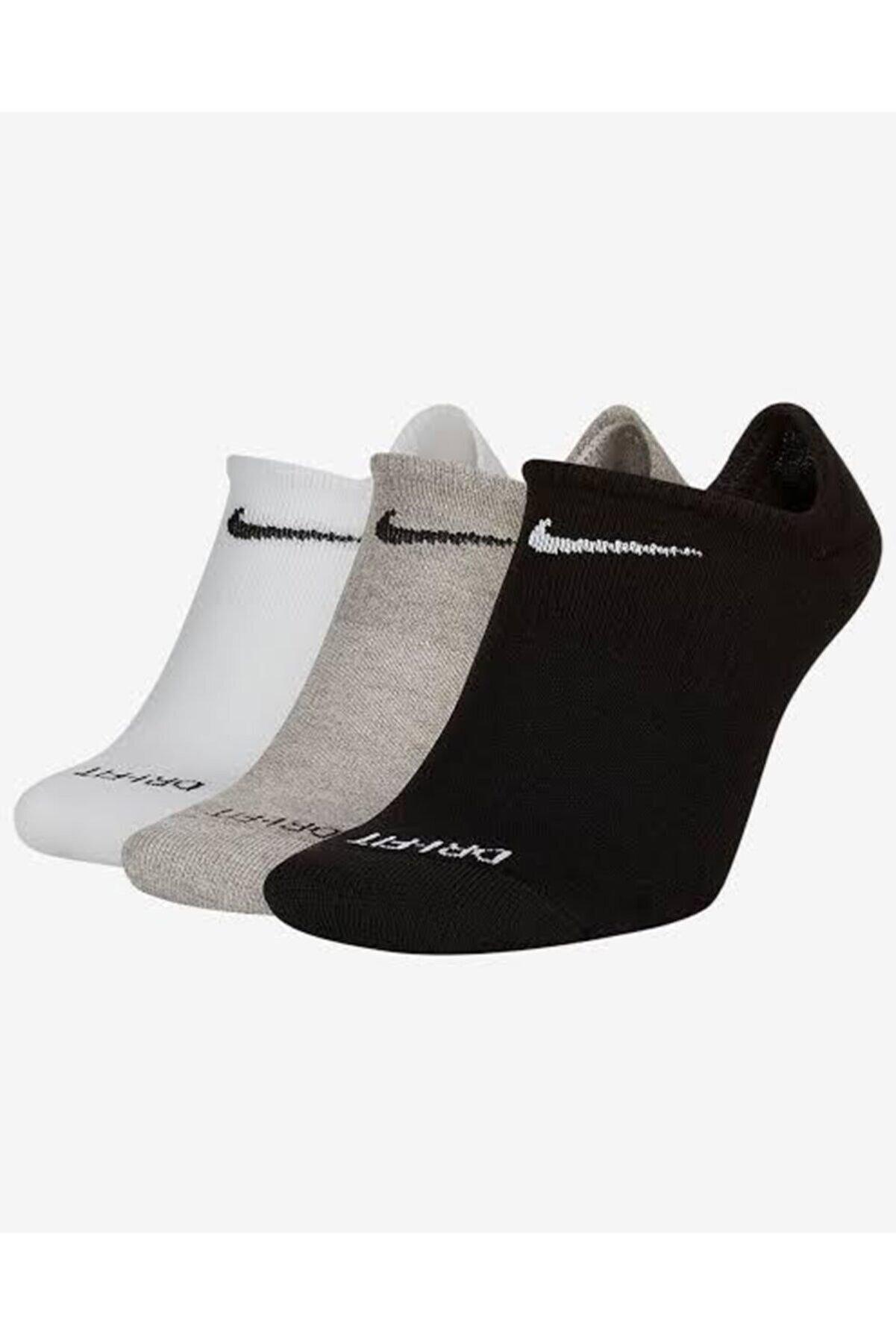 Nike Unisex Karışık Renkli Everyday Plus Cushioned 3'lü Çorap Seti