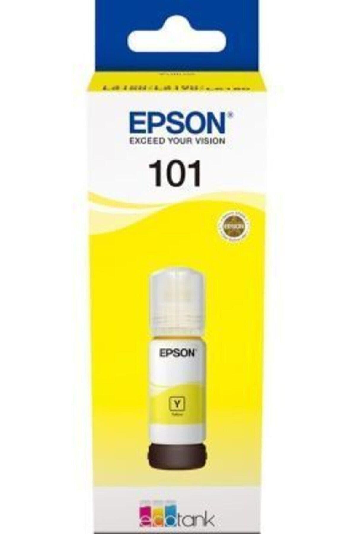 Epson 101 Sarı Orjinal Şişe Mürekkep Kartuş C13t03v44a