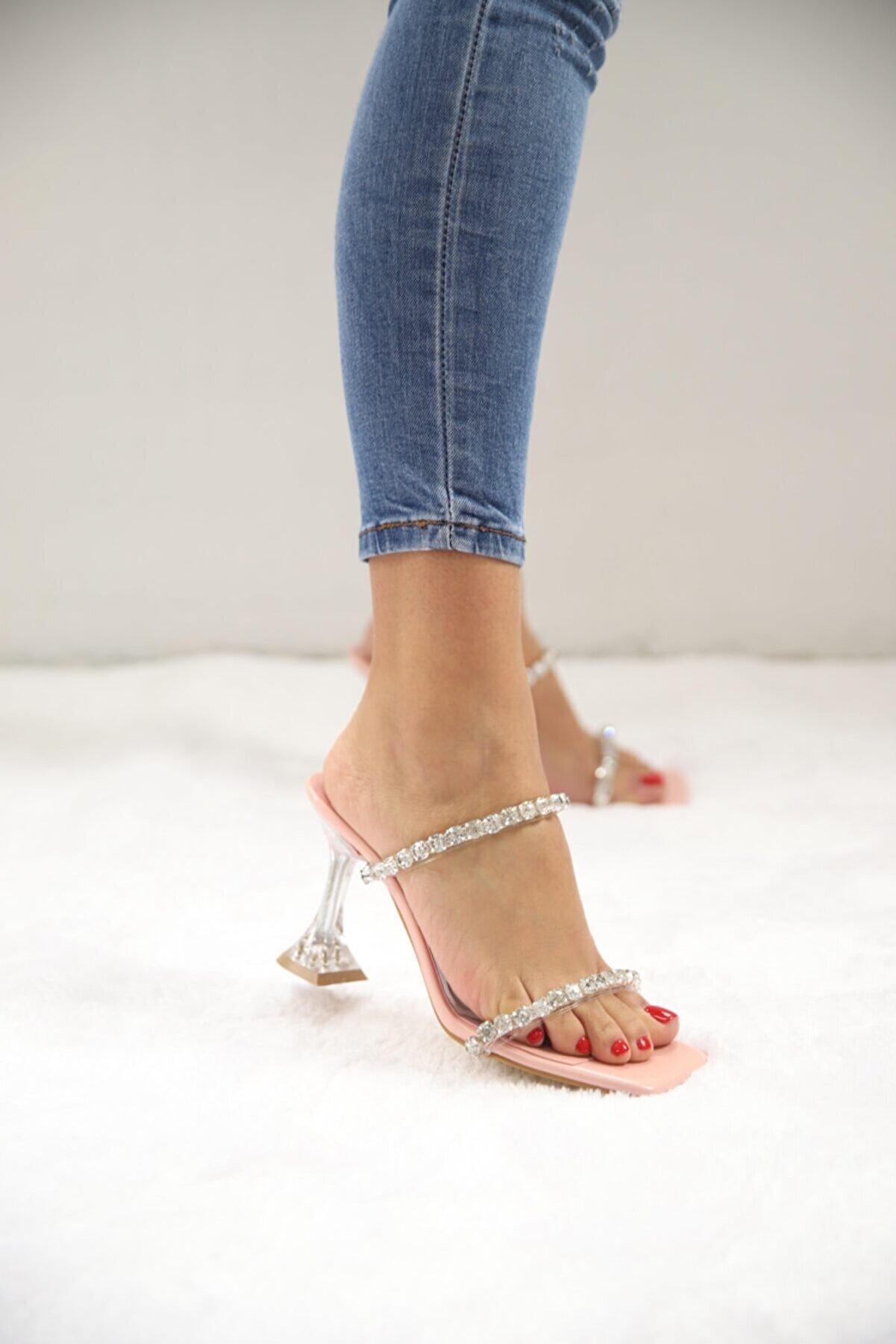 SHOEBELLAS Kadın Topuklu Ayakkabı