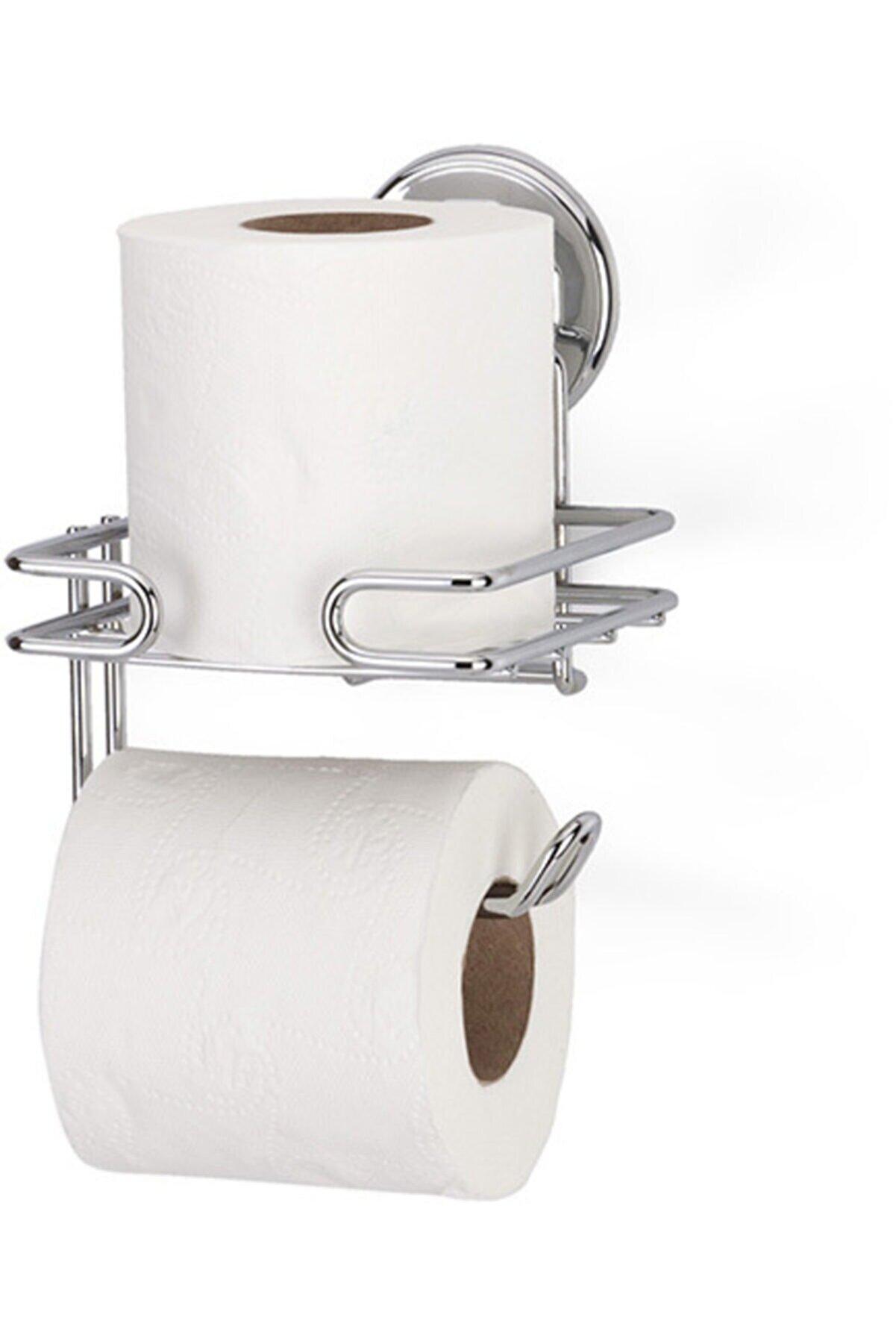 Teknotel Tuvalet Kağıtlığı Tuvalet Kağıdı Aparatı Yedekli Kağıtlık Vakumlu