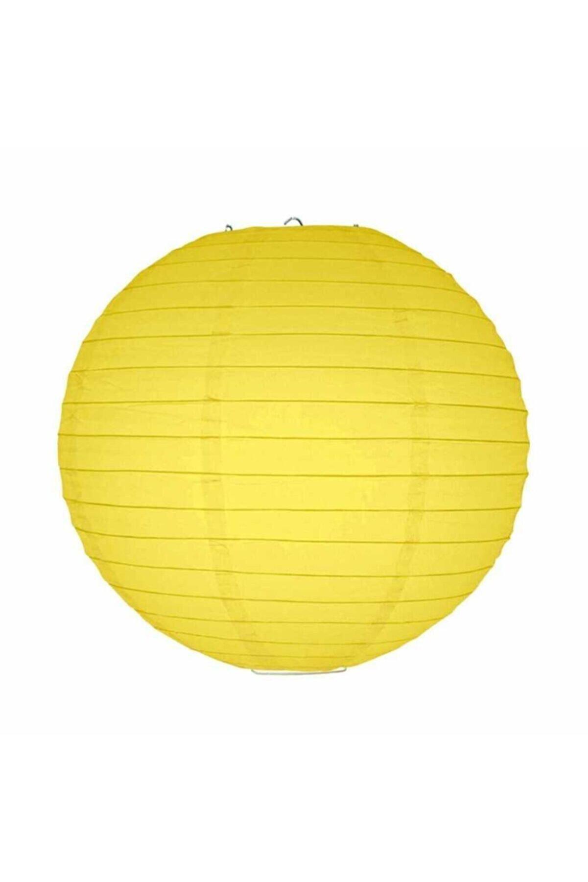 Kikajoy Sarı Kağıt Dekor Fener 30 Cm