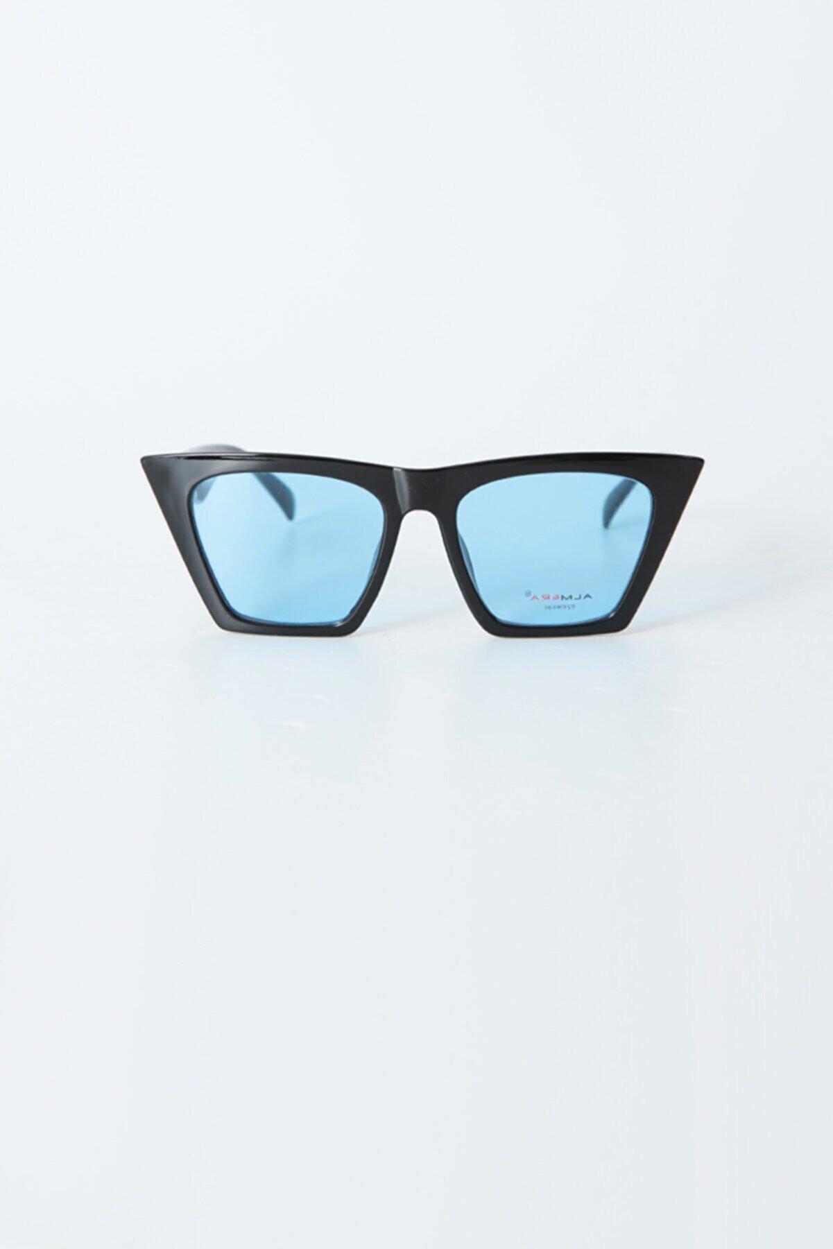 Kapin Şeffaf Mavi Cam Kedi Güneş Gözlüğü
