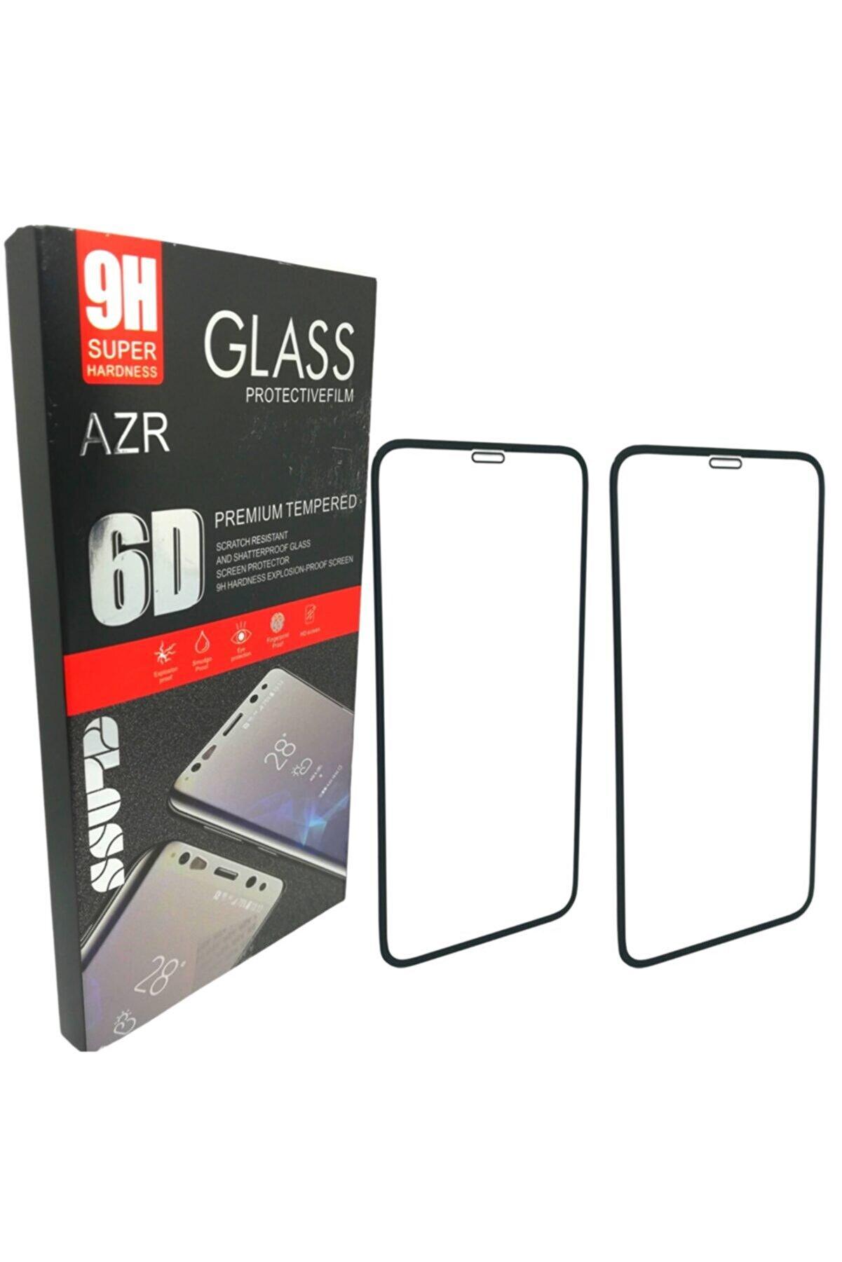 AZR 2'li Iphone 11 Pro Full Kaplama 6d Ekran Koruyucu Dayanıklı 9h Temperli Cam