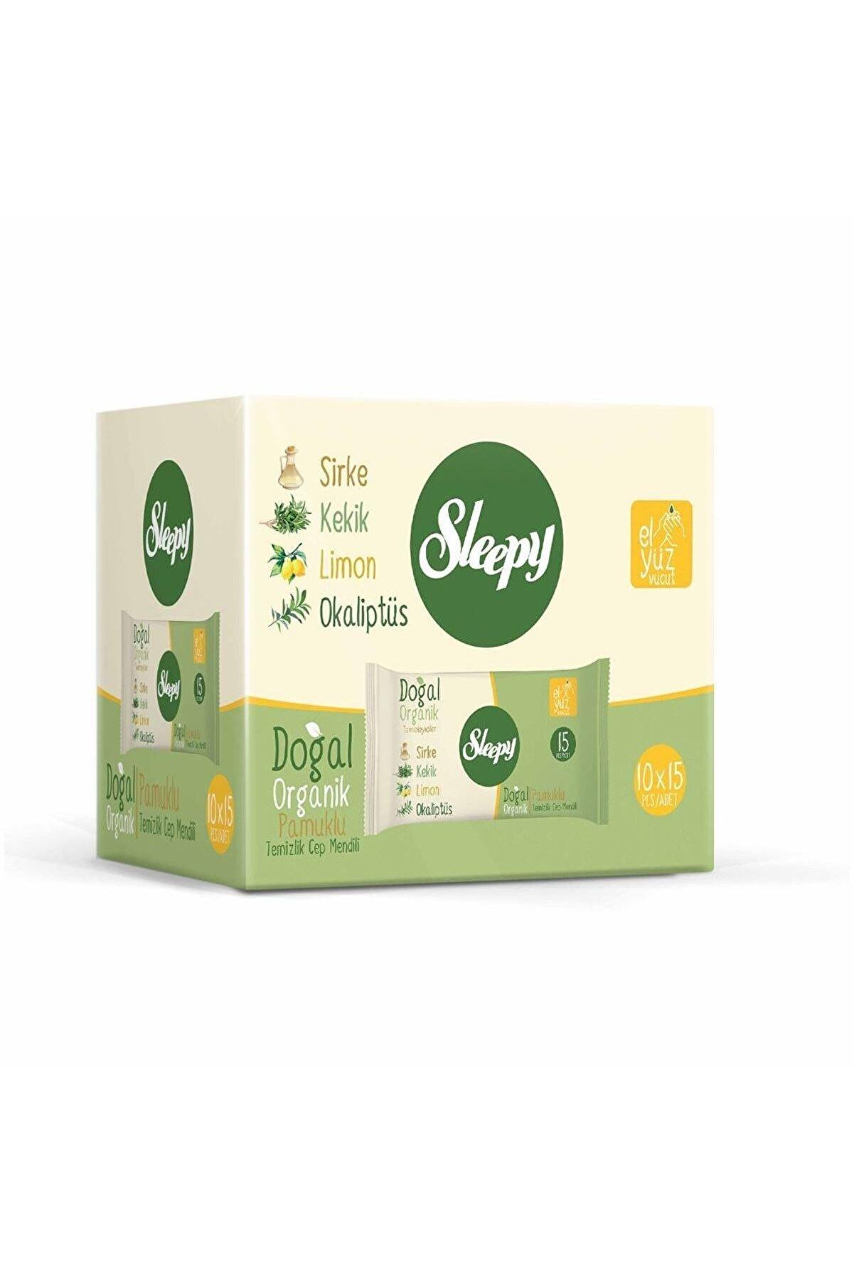 Sleepy Doğal Organik Pamuklu Cep Mendilli 150 Yaprak (10X15)
