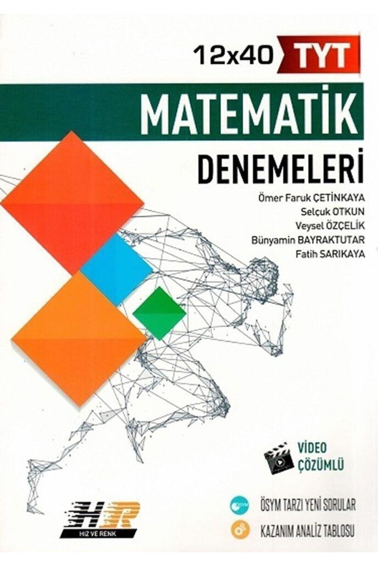 DIGERUI Tyt Matematik 12x40 Denemeleri Hız Ve Renk Yayınları