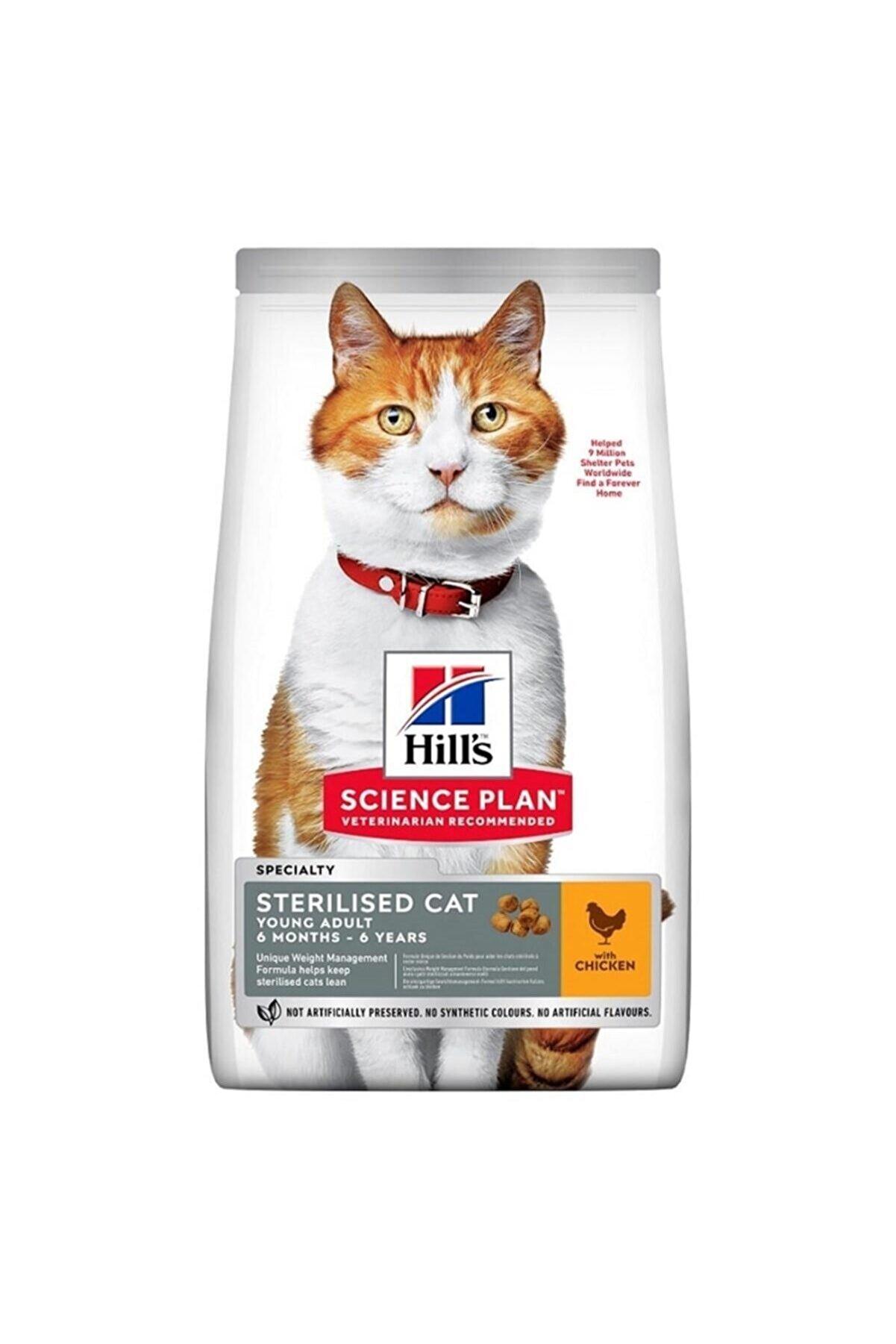 Hills Science Plan Hills Adult Tavuklu Kısırlaştırılmış Yetişkin Kedi Maması 3 Kg