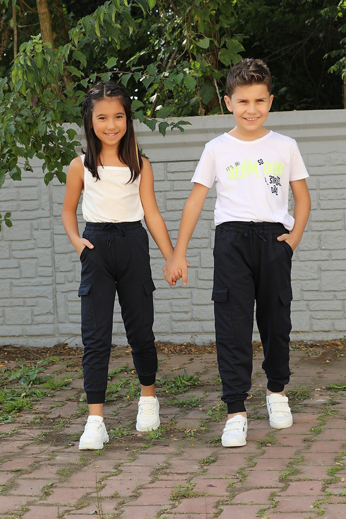 VEDAT BEBE Kargo Cepli Kız Erkek Çocuk Eşofman Altı