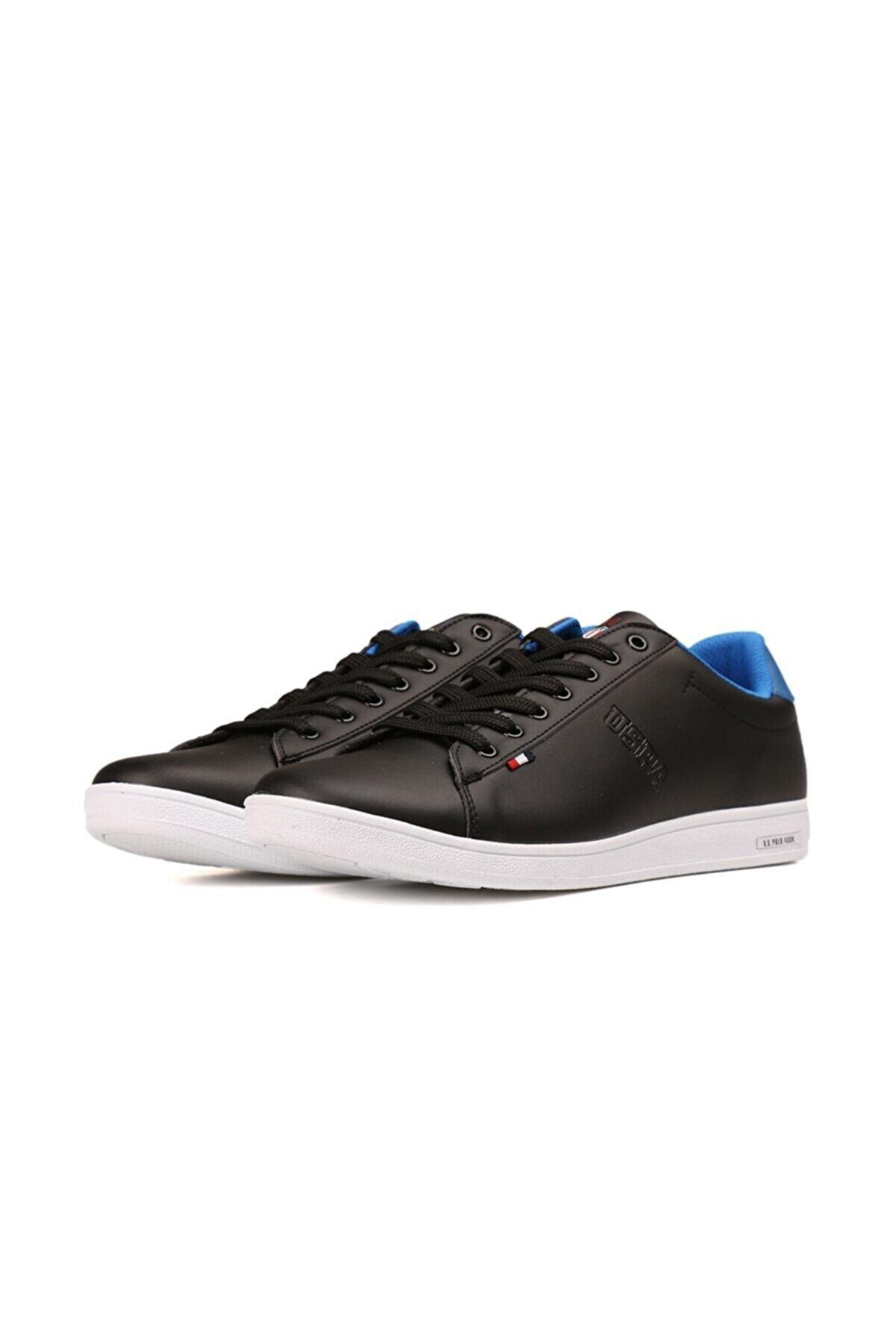 US Polo Assn Erkek SiyahFranco 1fx Mavi Sneaker 100910272