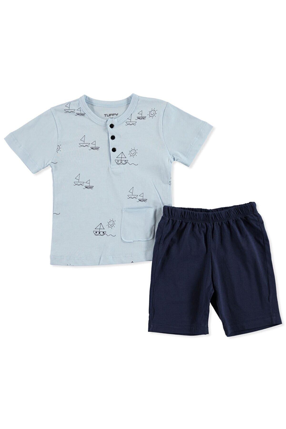 Tuffy Erkek Bebek Gülen Güneş 2li Tshirt-şort Takım