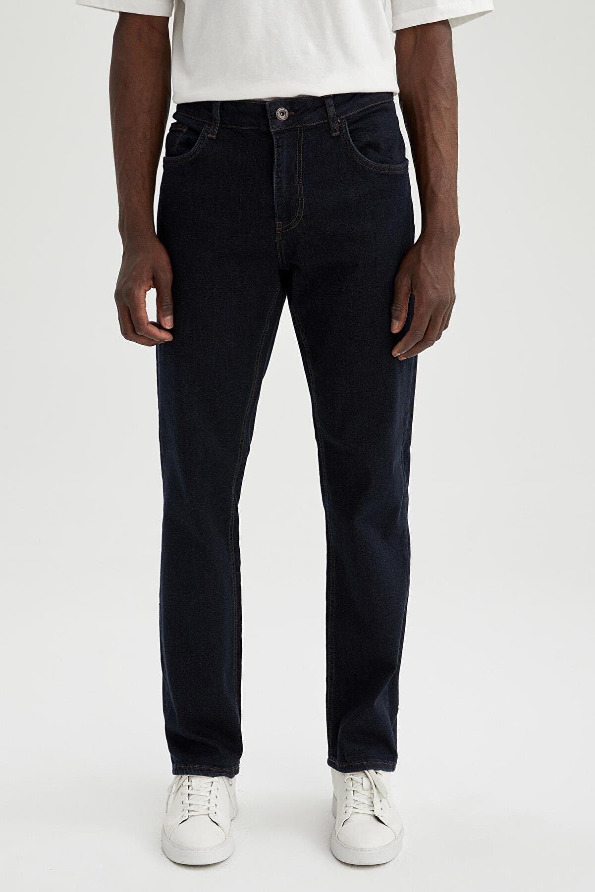 Defacto Comfort Fit Normal Bel Boru Paça Jean Pantolon