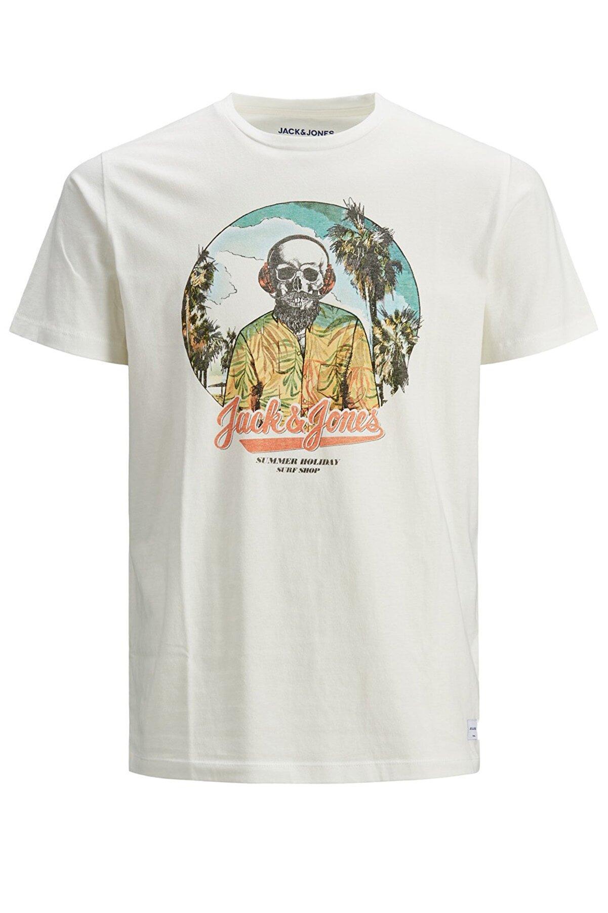 Jack & Jones Erkek Kuru Kafa Pamuklu Tshirt - 12188286